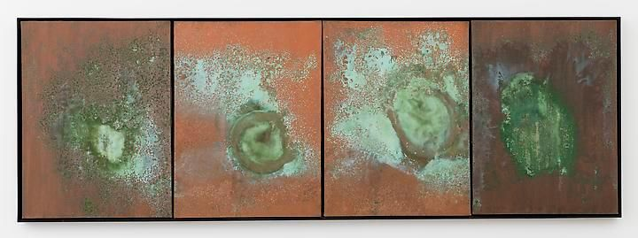 Andy Warhol Oxidation Painting (Diptych), 1978