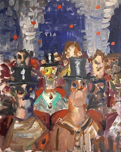 George Condo, Crowd Scene, 2006