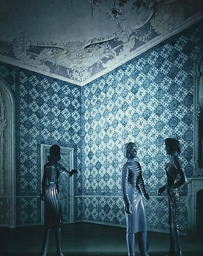 Laurie Simmons, Blue Tile Reception Area, 1983