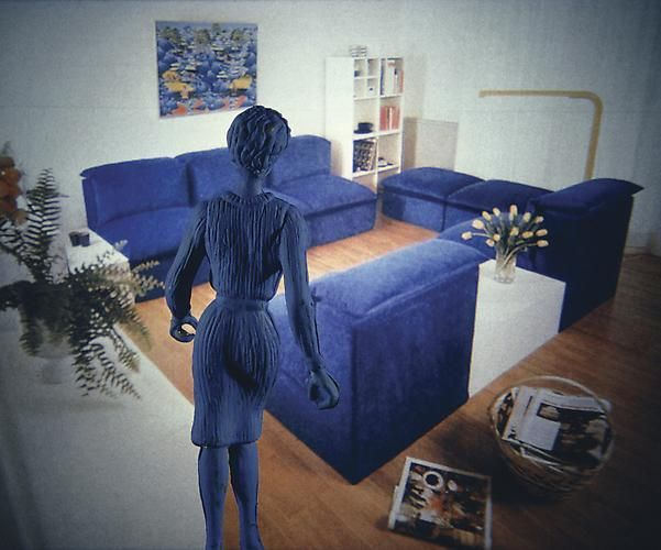 Laurie Simmons, Blue Living Room, 1983