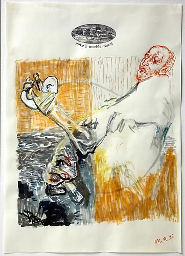 Martin Kippenberger  110, Ohne titel (Self-portrait), 1995