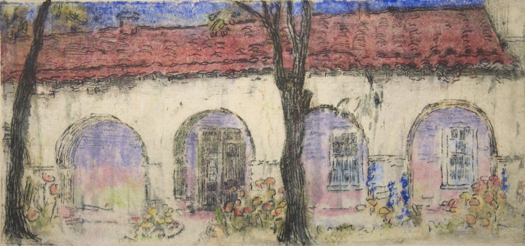 Nell Brooker Mayhew, Mission San Juan Bautista, 1921