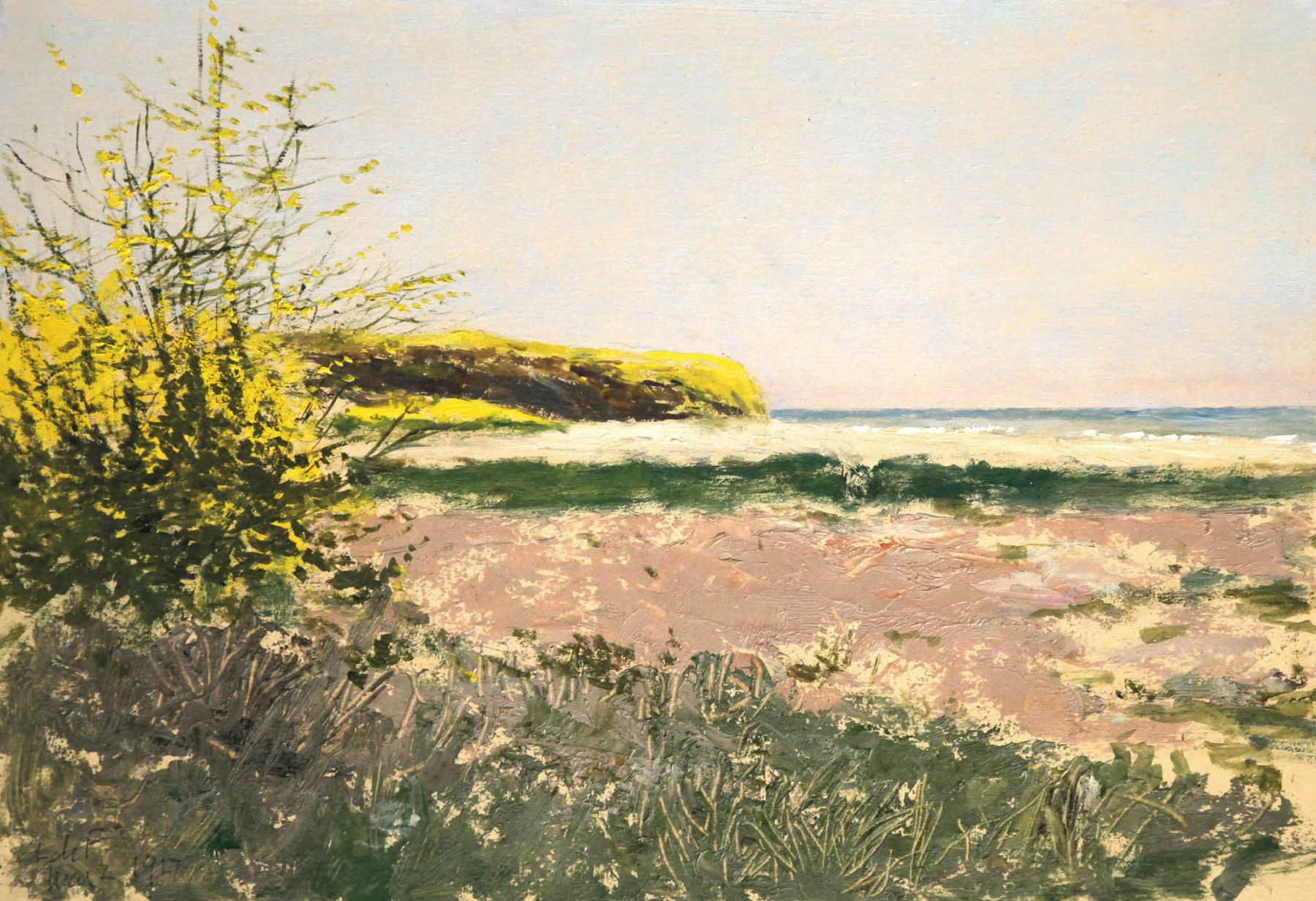 Lockwood De Forest, Wild Mustard and Fennel Along the Beach