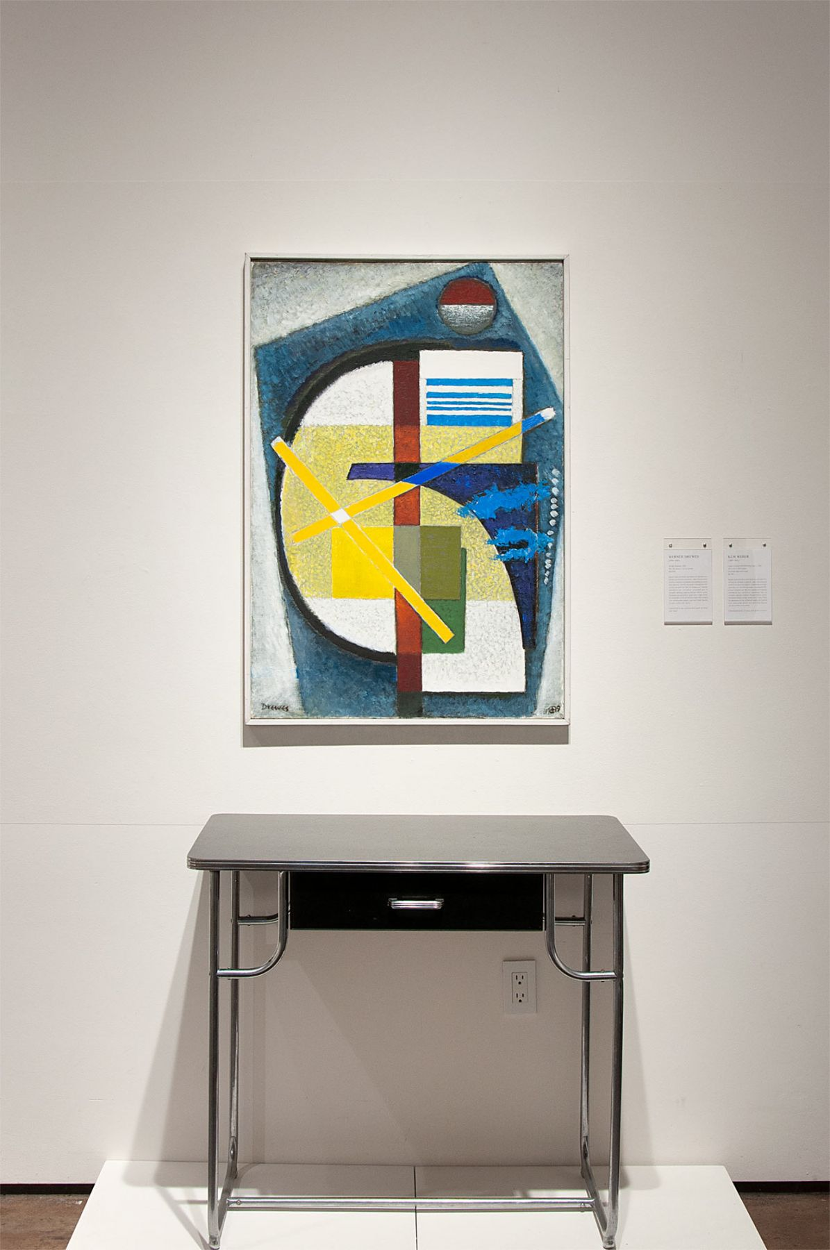 Installation photograph of CALIFORNIA BAUHAUS with Werner Drewes and KEM Weber