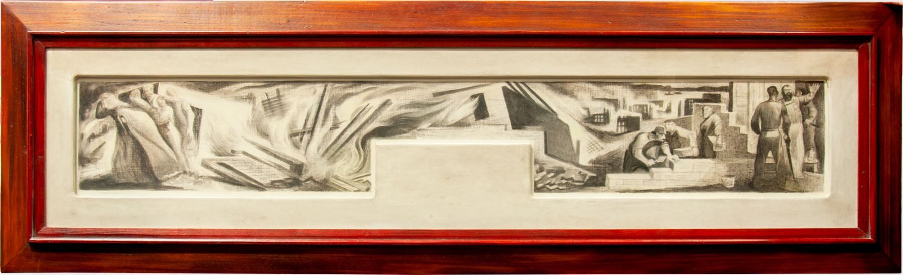 RICHARD HAINES (1906-1984), Rebuilding from the Great Earthquake, c. 1938
