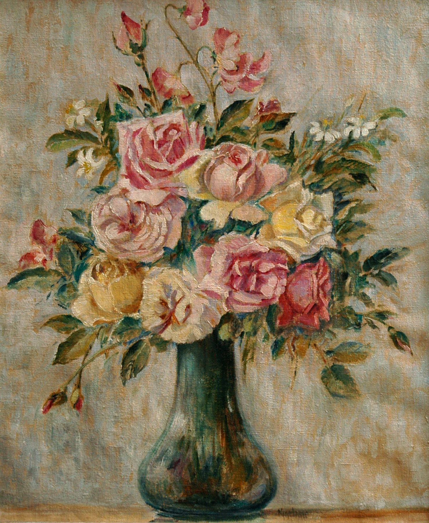 MAX KUEHNE (1880-1968), Roses, 1952