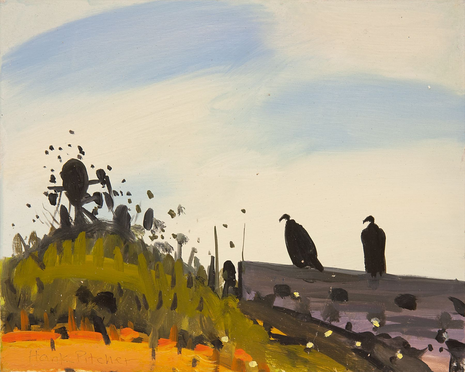 HANK PITCHER, Two Vultures, 2016