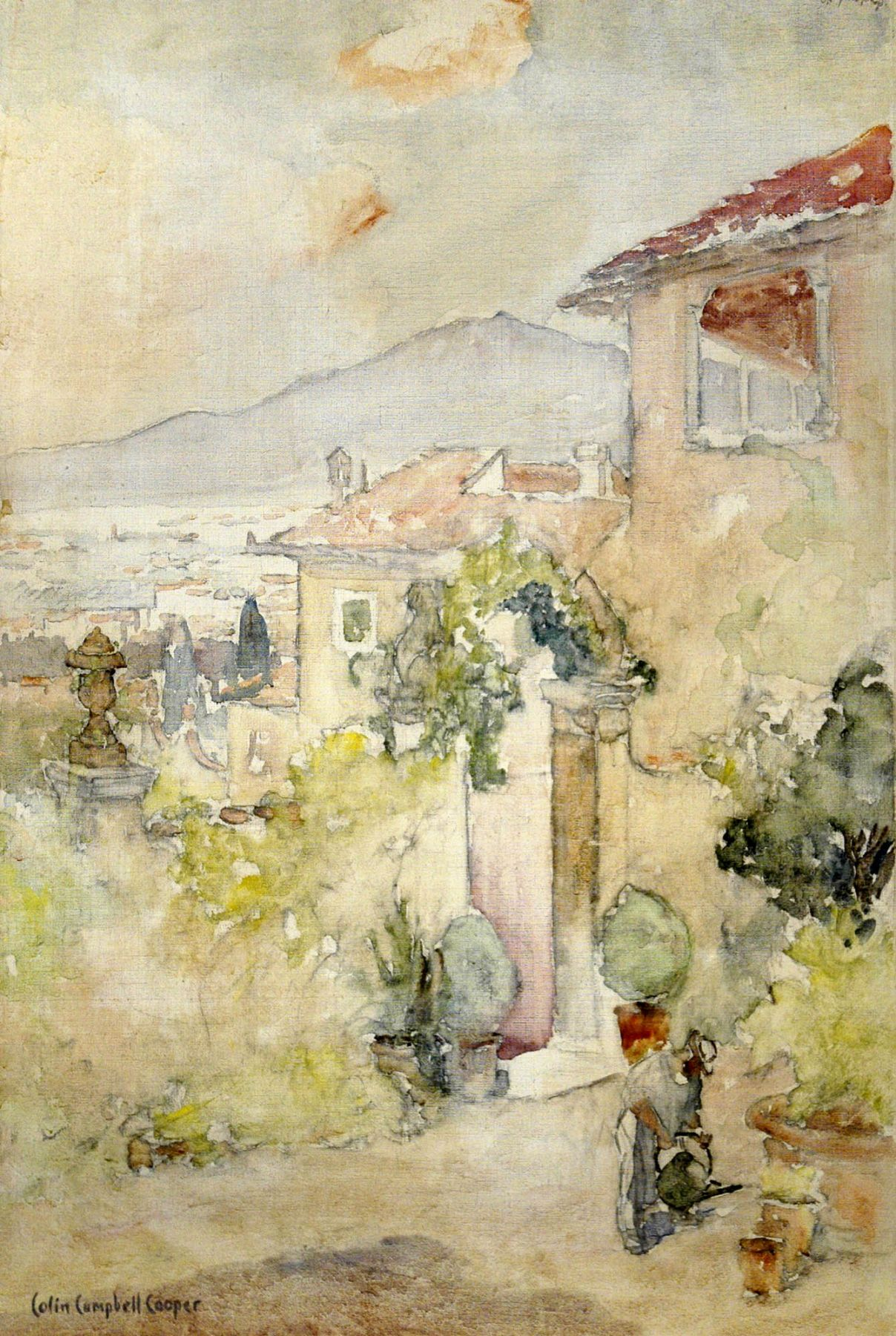 COLIN CAMPBELL COOPER (1856-1937), From Taoromina to Mt Aetna, c. 1910