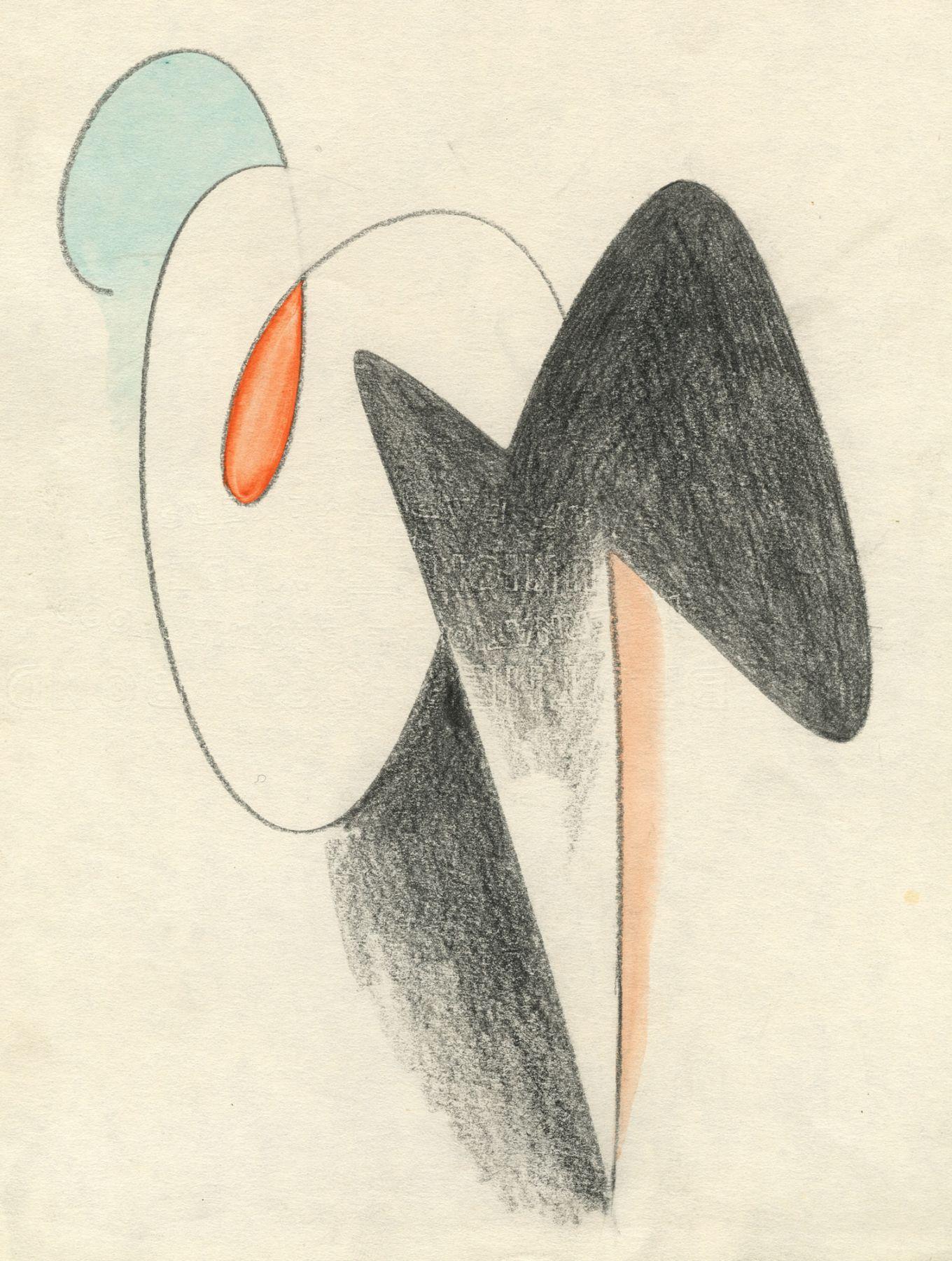 SIDNEY GORDIN (1918-1996), Untitled - Pink, Black, Red, Blue