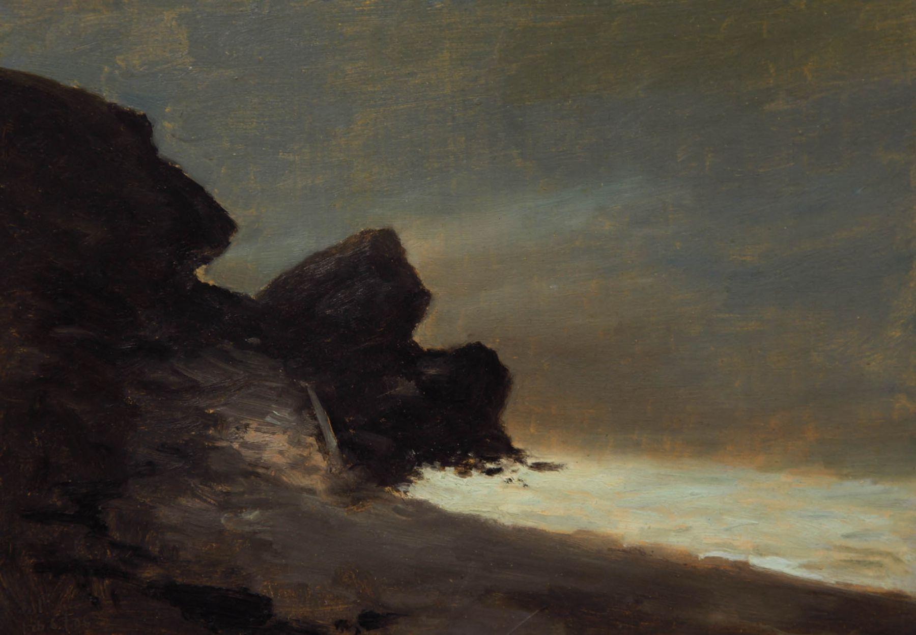 Lockwood De Forest, Moonlight Behind Castle Rock, Feb 6, 1906