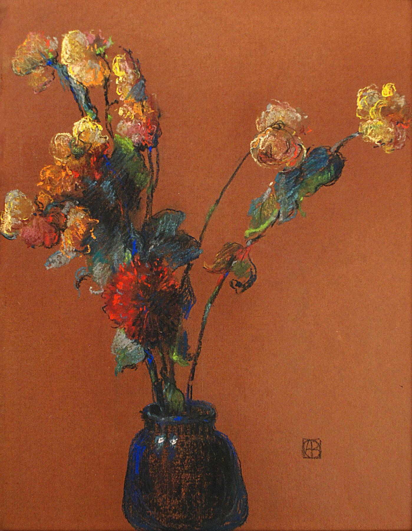 LEON DABO (1864-1960), Abstraction avec un Zinnia, c. 1915