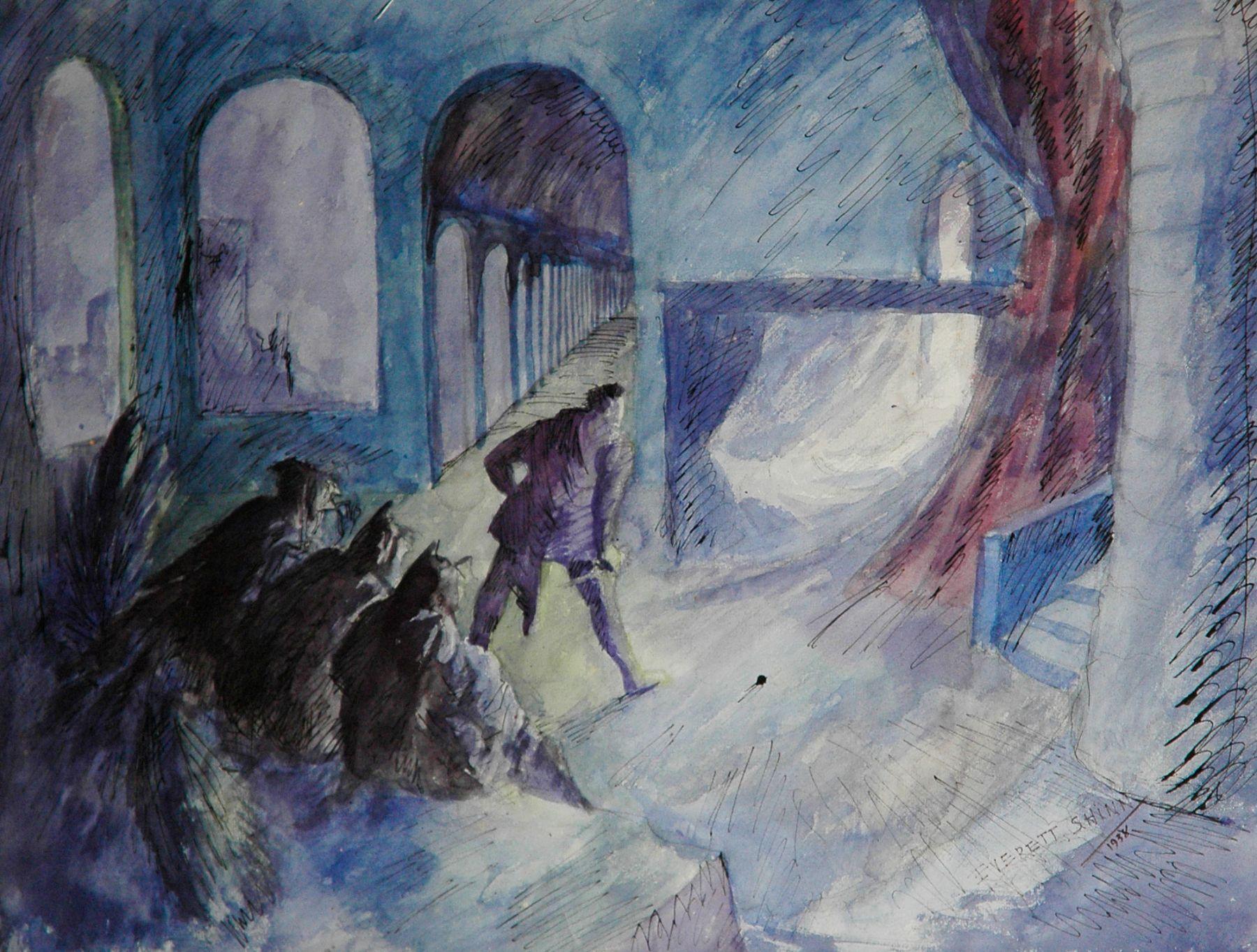 EVERETT SHINN (1876-1953), Curtain Call, 1938
