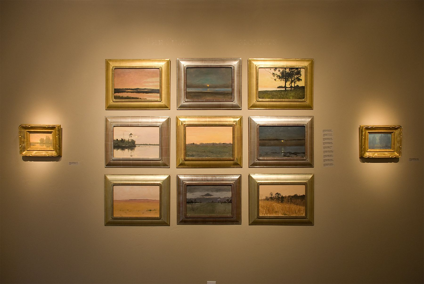 TONALISM THEN installation, Granville Redmond, Lockwood de Forest
