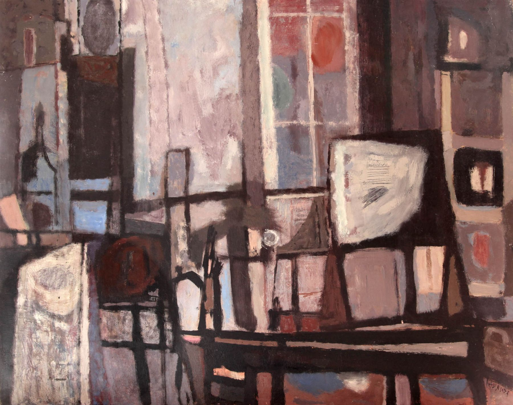 Richard Haines, Blue Interior, c. mid 1950s