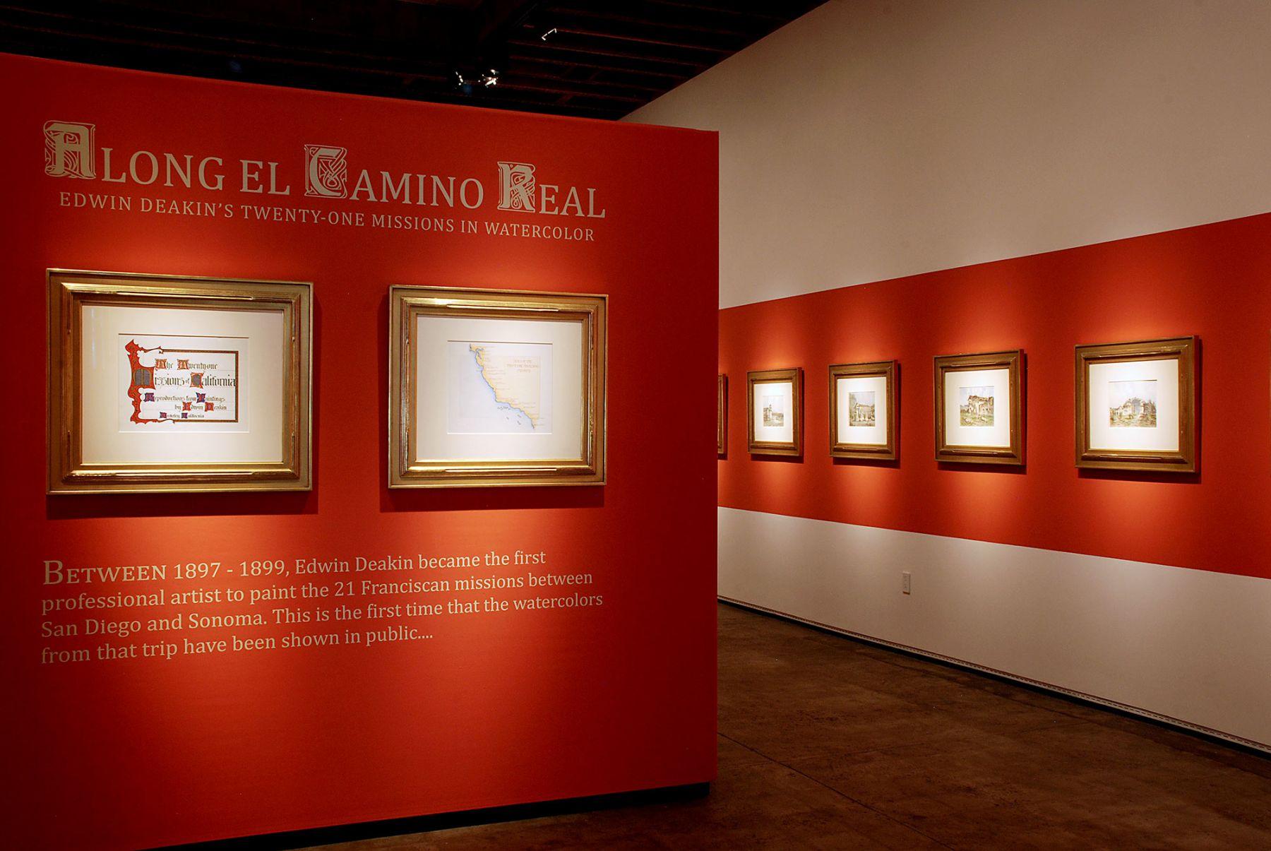 ALONG EL CAMINO REAL: Edwin Deakin's 21 Missions in Watercolor installation