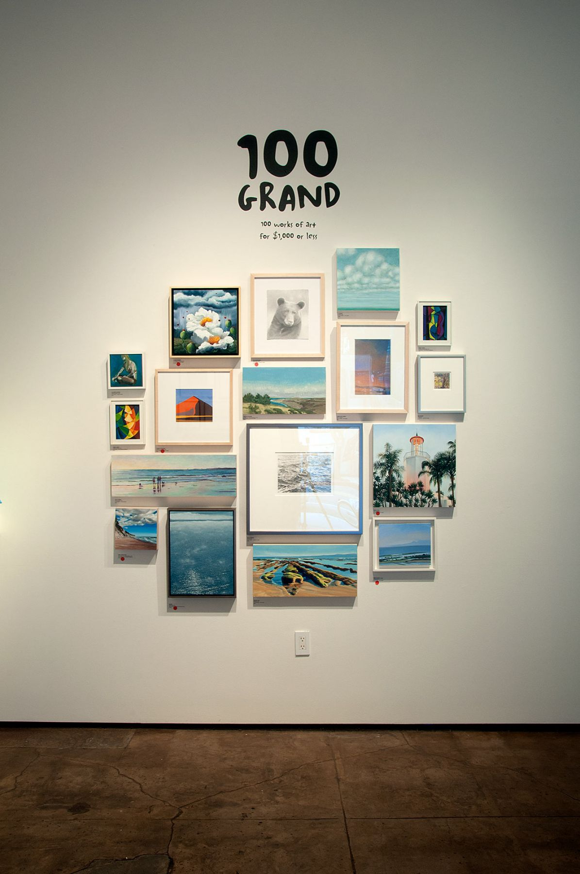 100 GRAND, 2018 installation shot