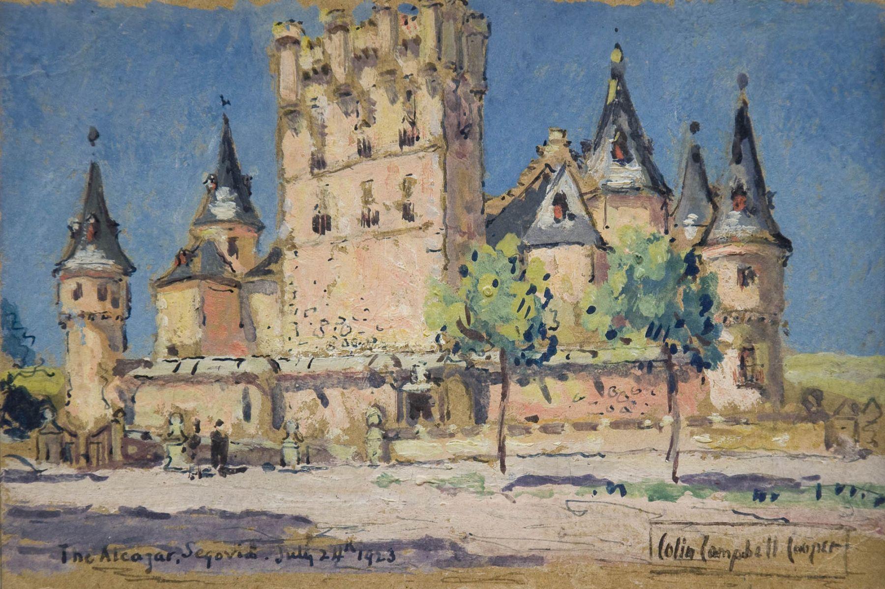 Colin Campbell Cooper, The Alcazar, Segovia, July 24, 1923.