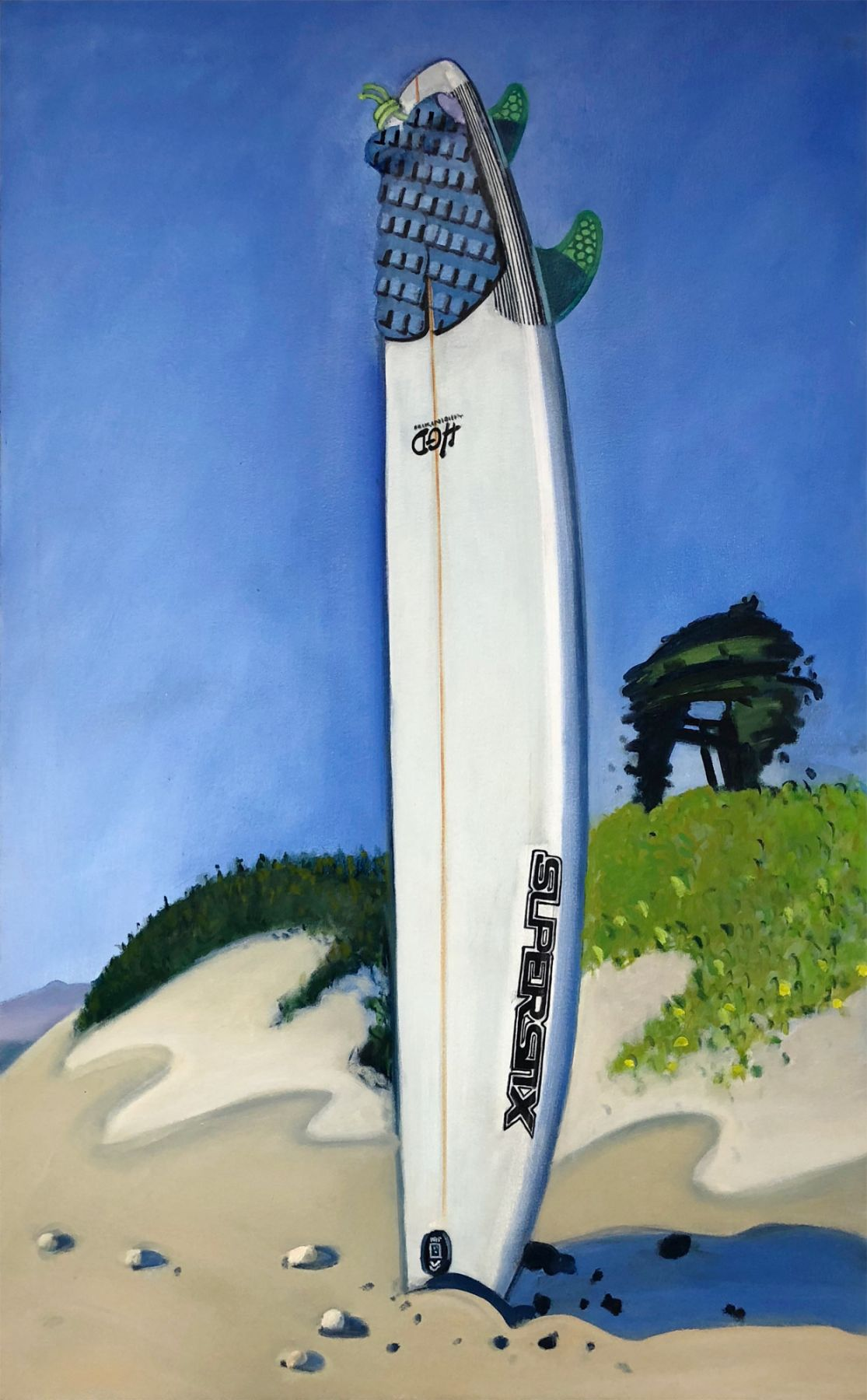 Hank Pitcher, Eric's Board at Sands Beach, 2018
