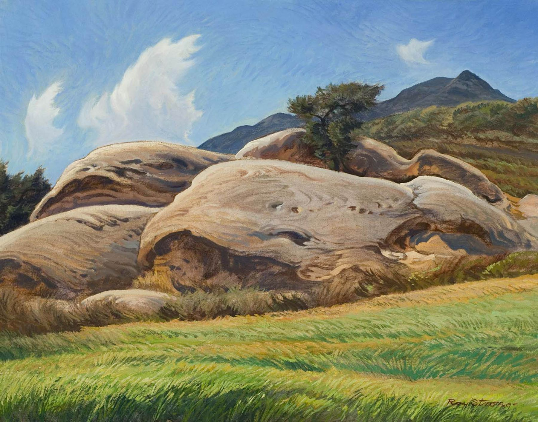 Ray Strong, Toro Canyon Rock, 1977
