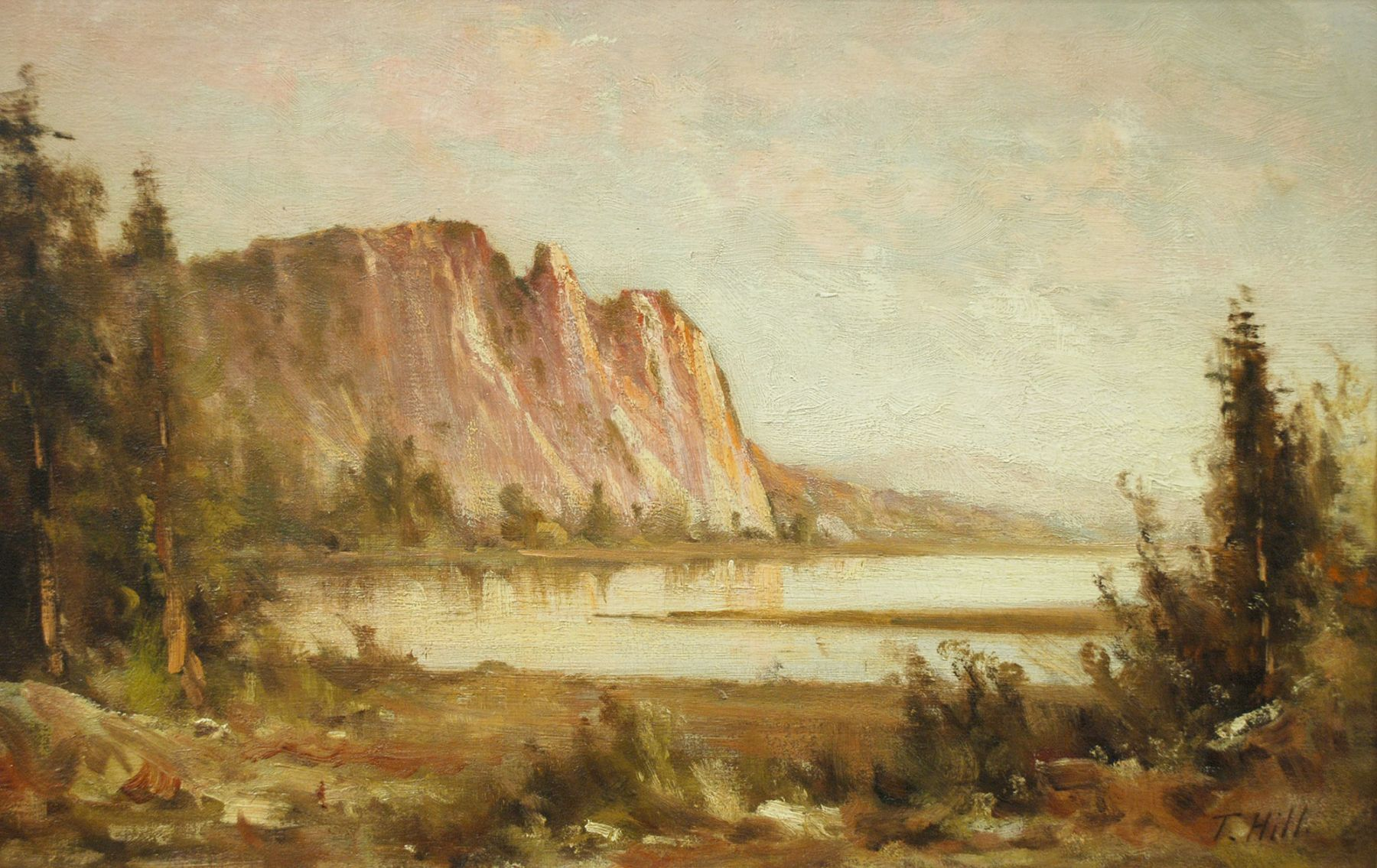 THOMAS HILL (1829-1908), Lake View at Dawn, c. 1880s
