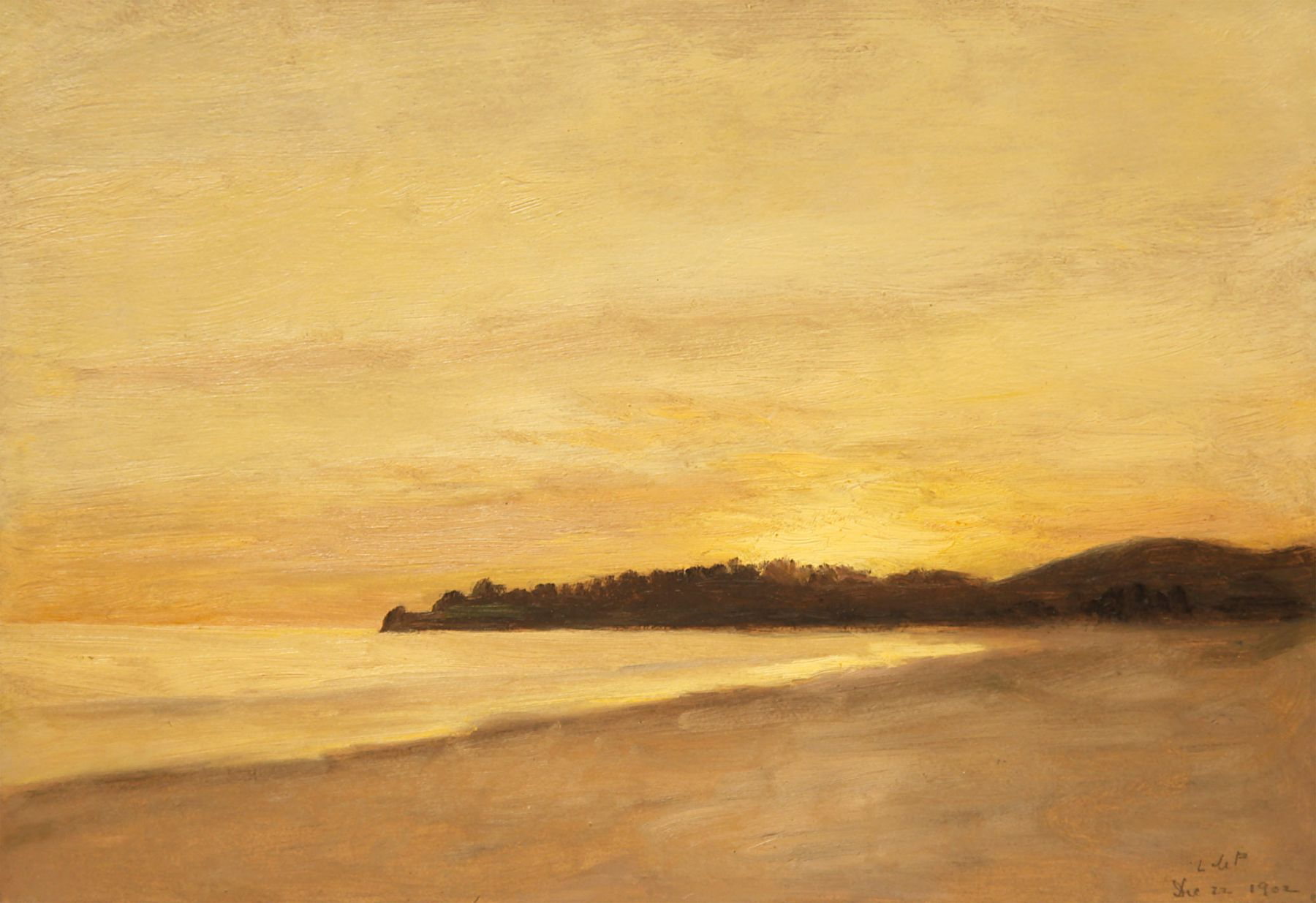 LOCKWOOD DE FOREST (1850-1932), Sunset over the Point - Refugio, North of Santa Barbara, December 22, 1902