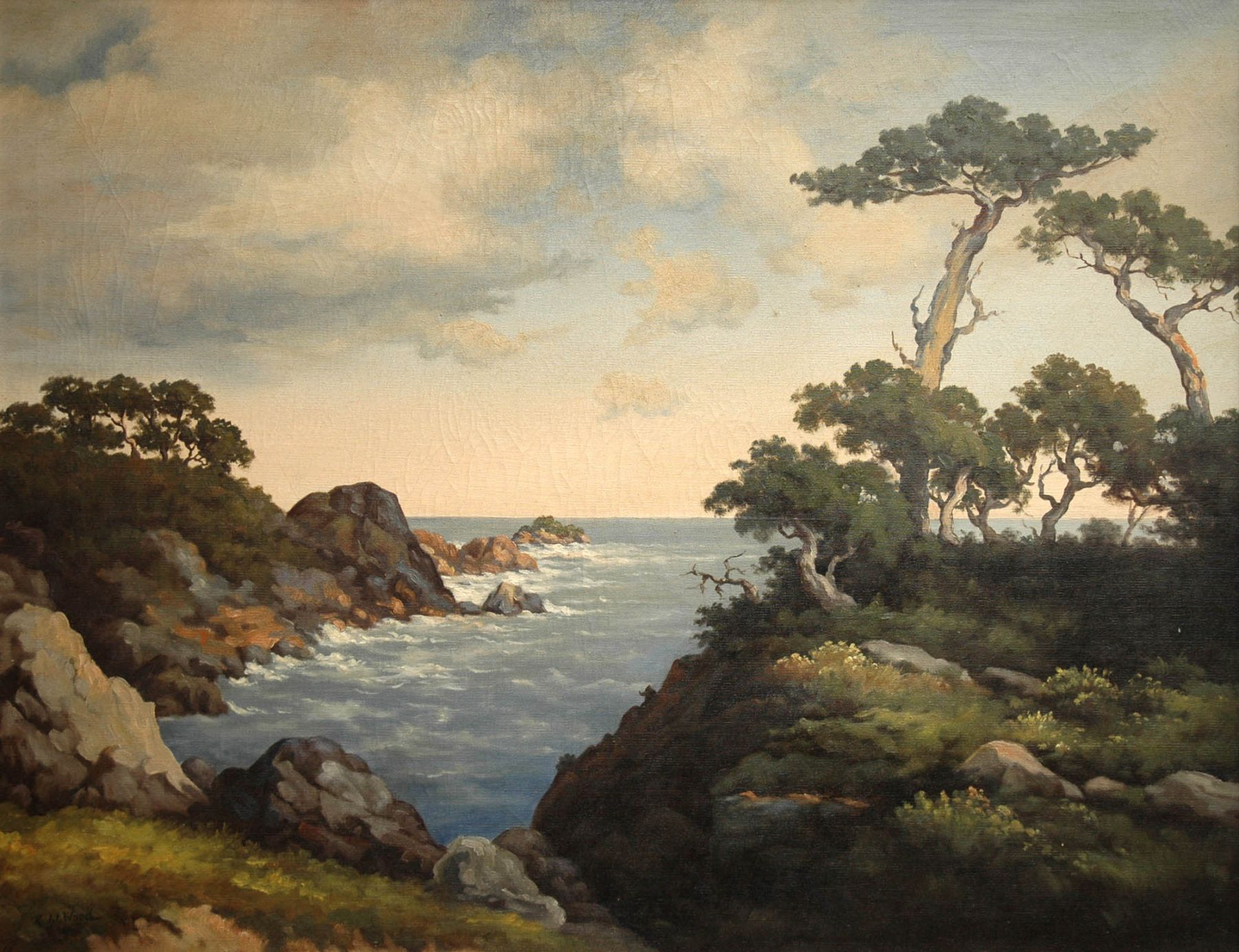 Robert Wood, Off Monterey, c 1941-1948