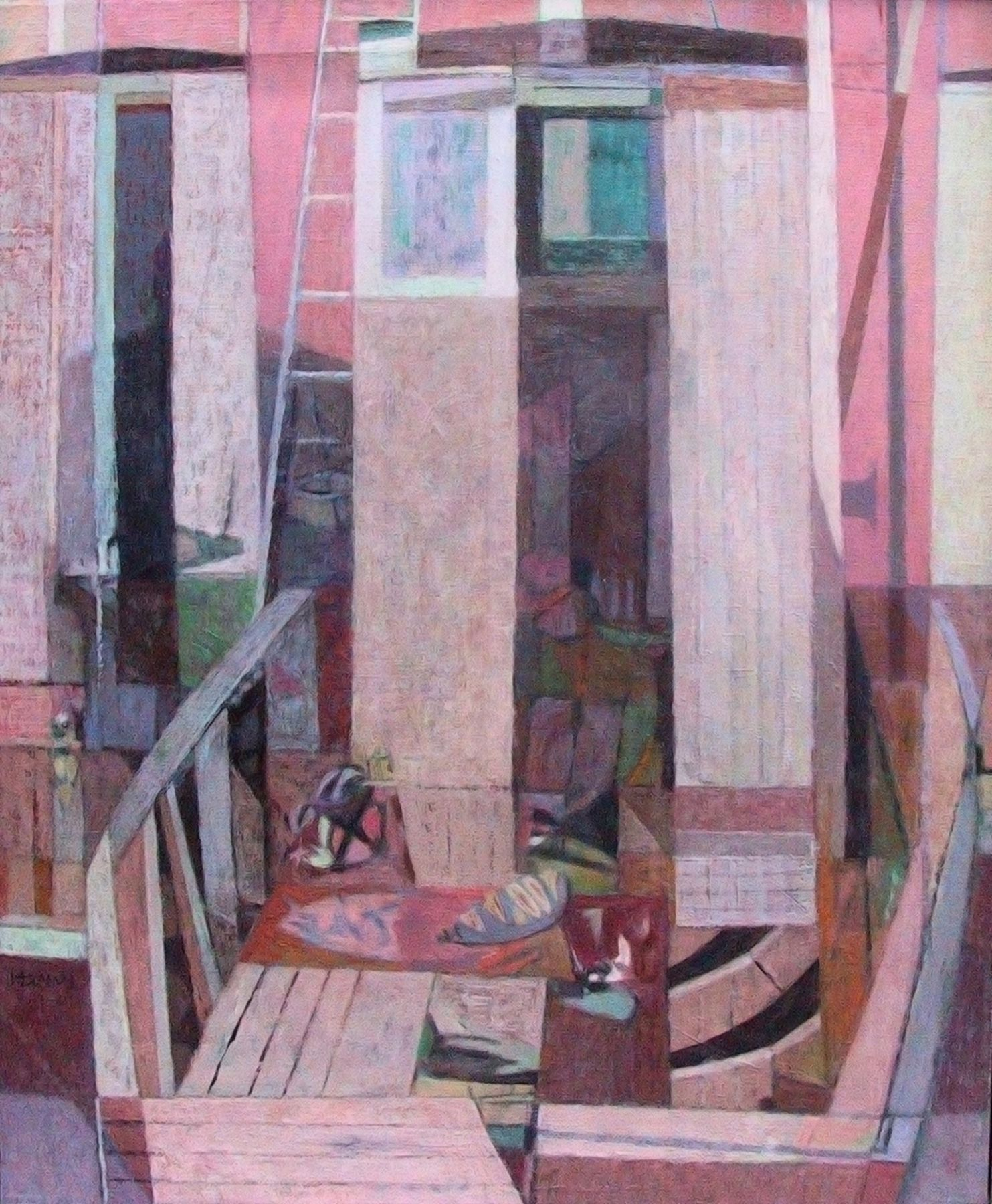 Richard Haines (1906 - 1984) - Sea House Dry Dock