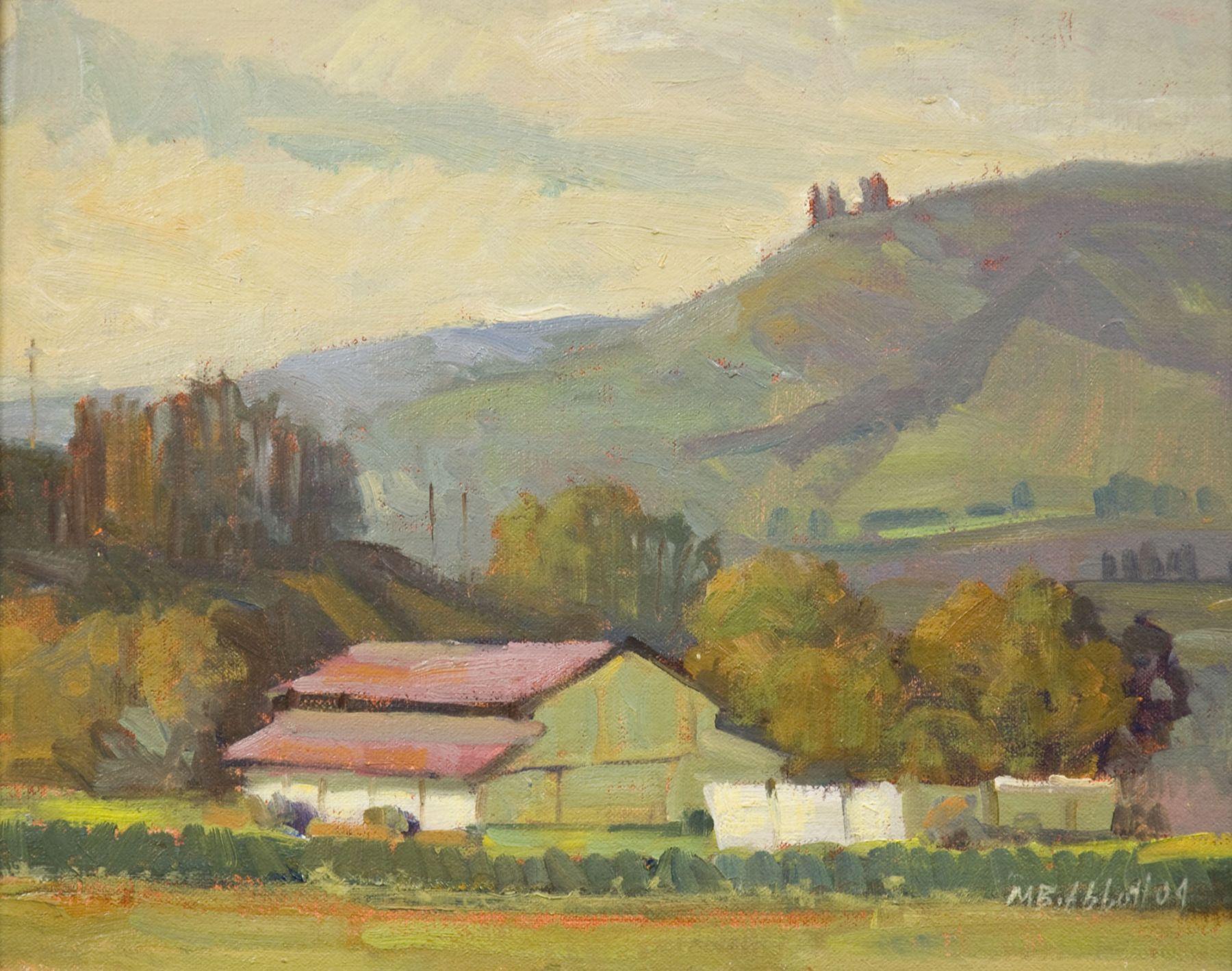 Meredith Brooks Abbott, Barn and Hill, Santa Rosa Road
