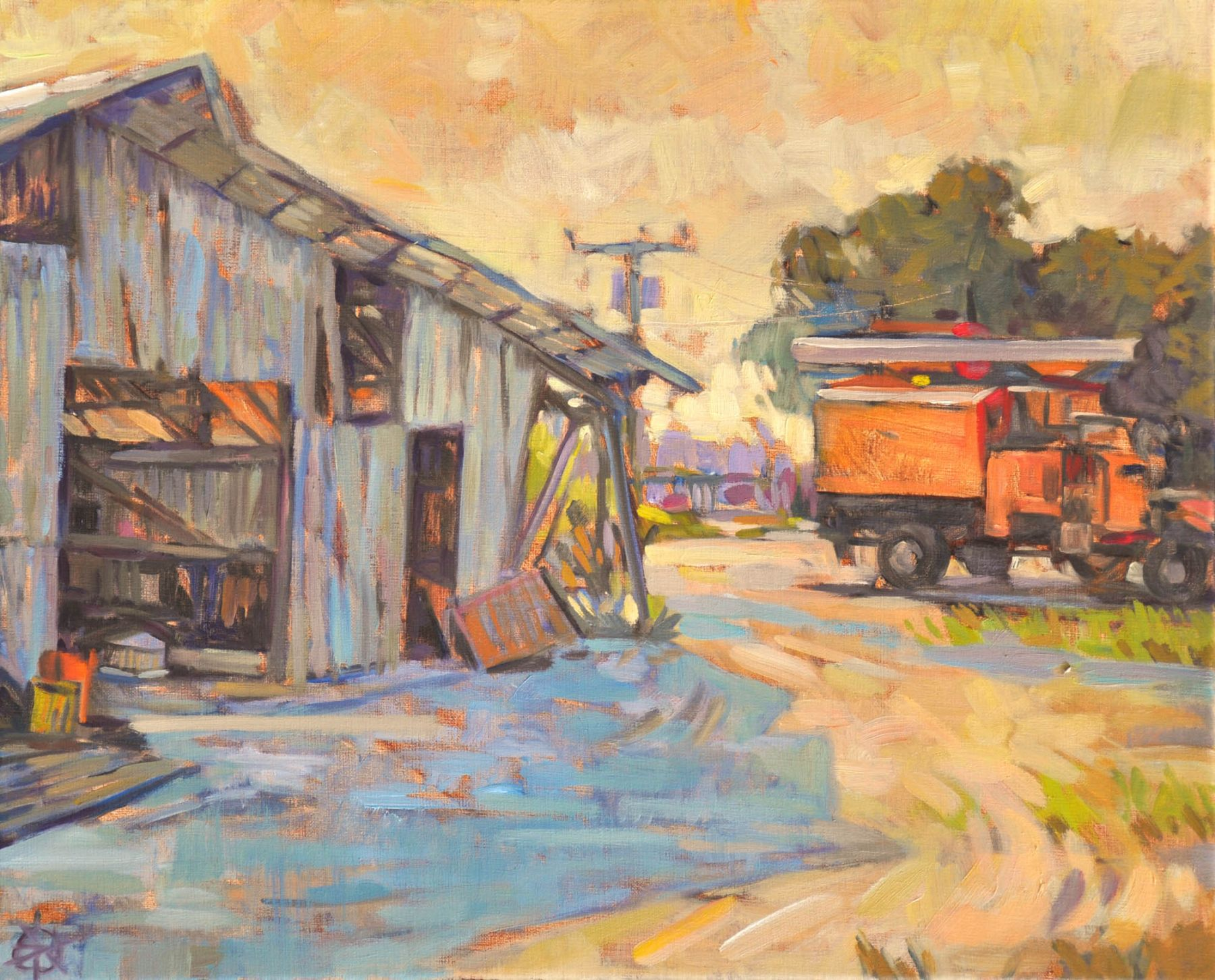 Meredith Brooks Abbott, Boom, Truck, and Barn, 2017