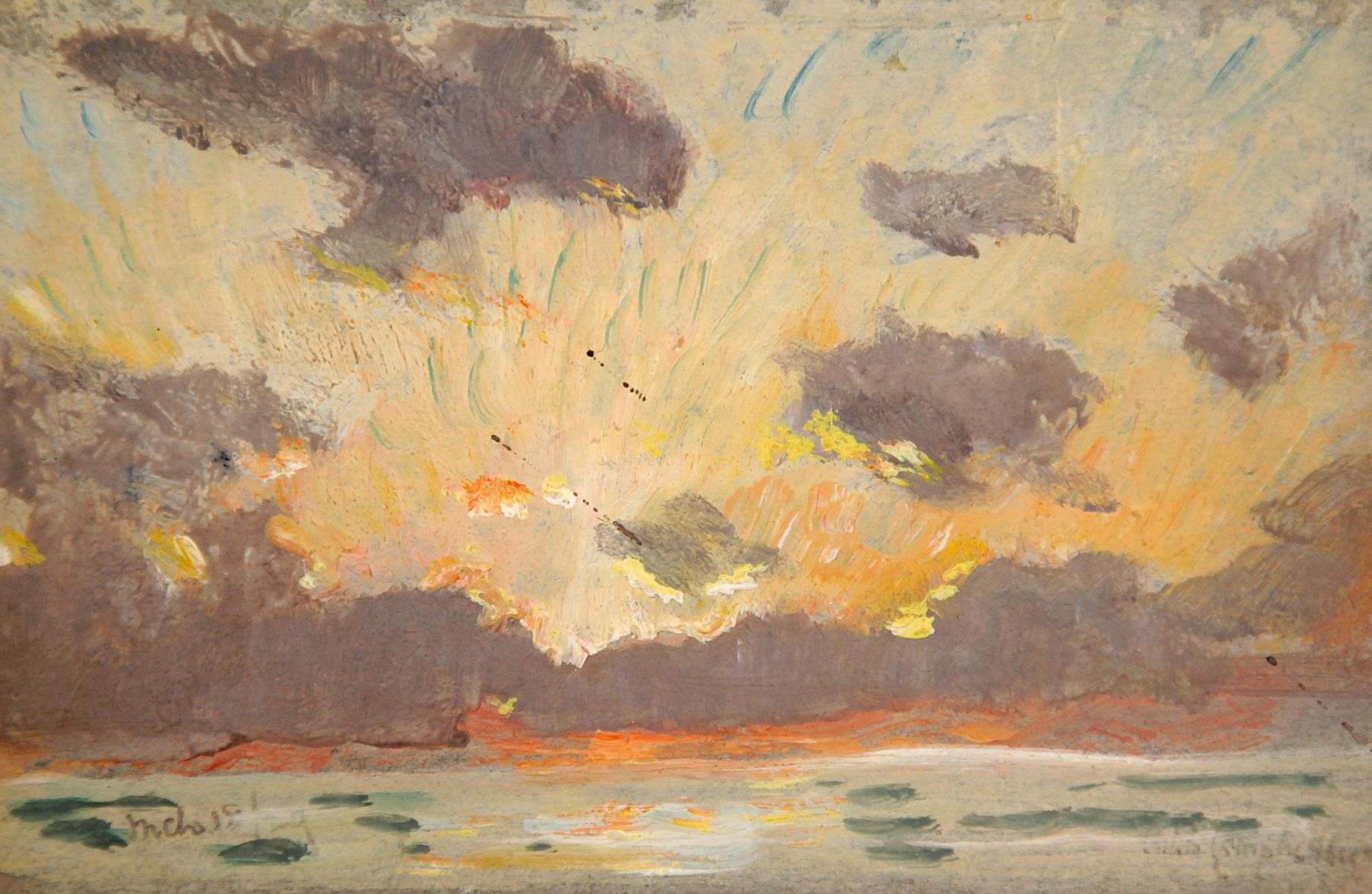 COLIN CAMPBELL COOPER, Sunset with Green Rays over Ocean, 1929