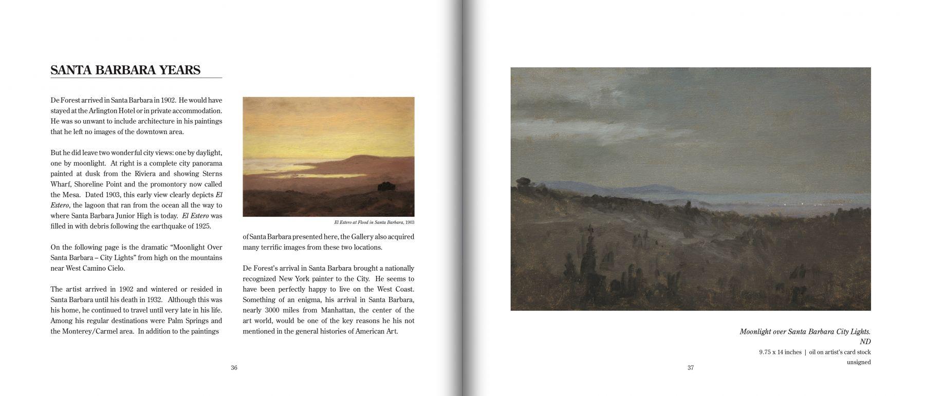 De Forest's SANTA BARBARA detail pages