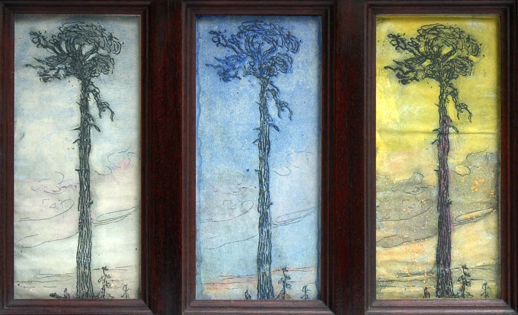 Only God can  Make a Tree (Triptych), Nell Brooker Mayhew