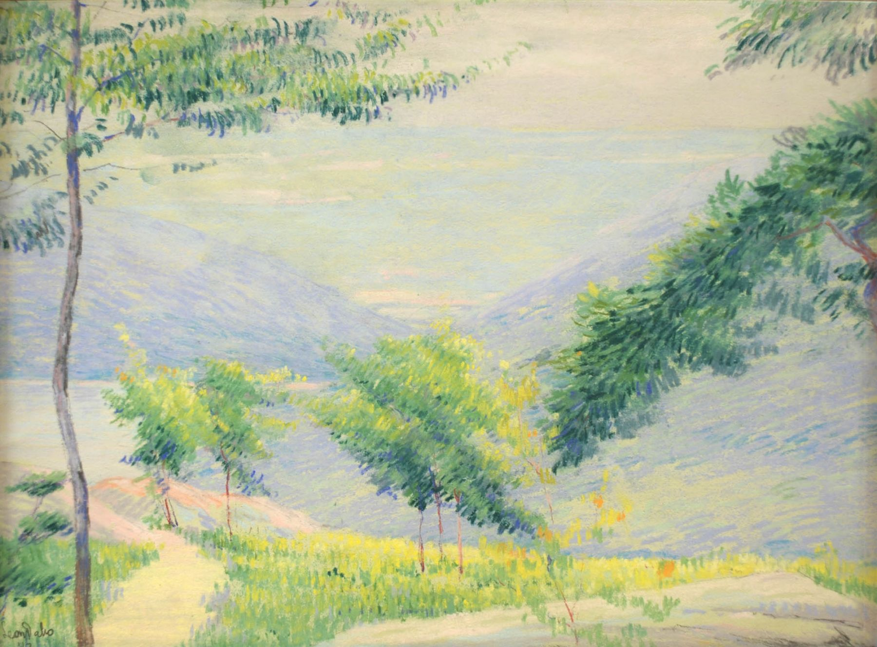 Leon Dabo, Valley View (possibly Road to Storm King from 4th Pastellists), 1913
