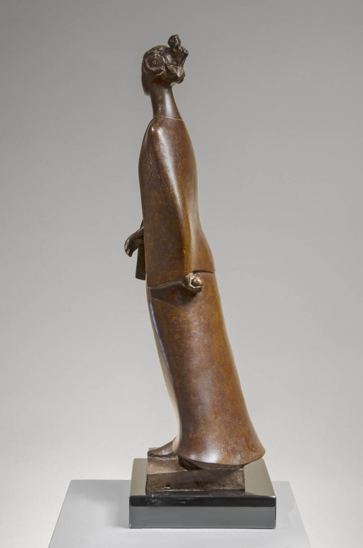 Gilbert Franklin, Figure with Cape and Apple, c. 2000