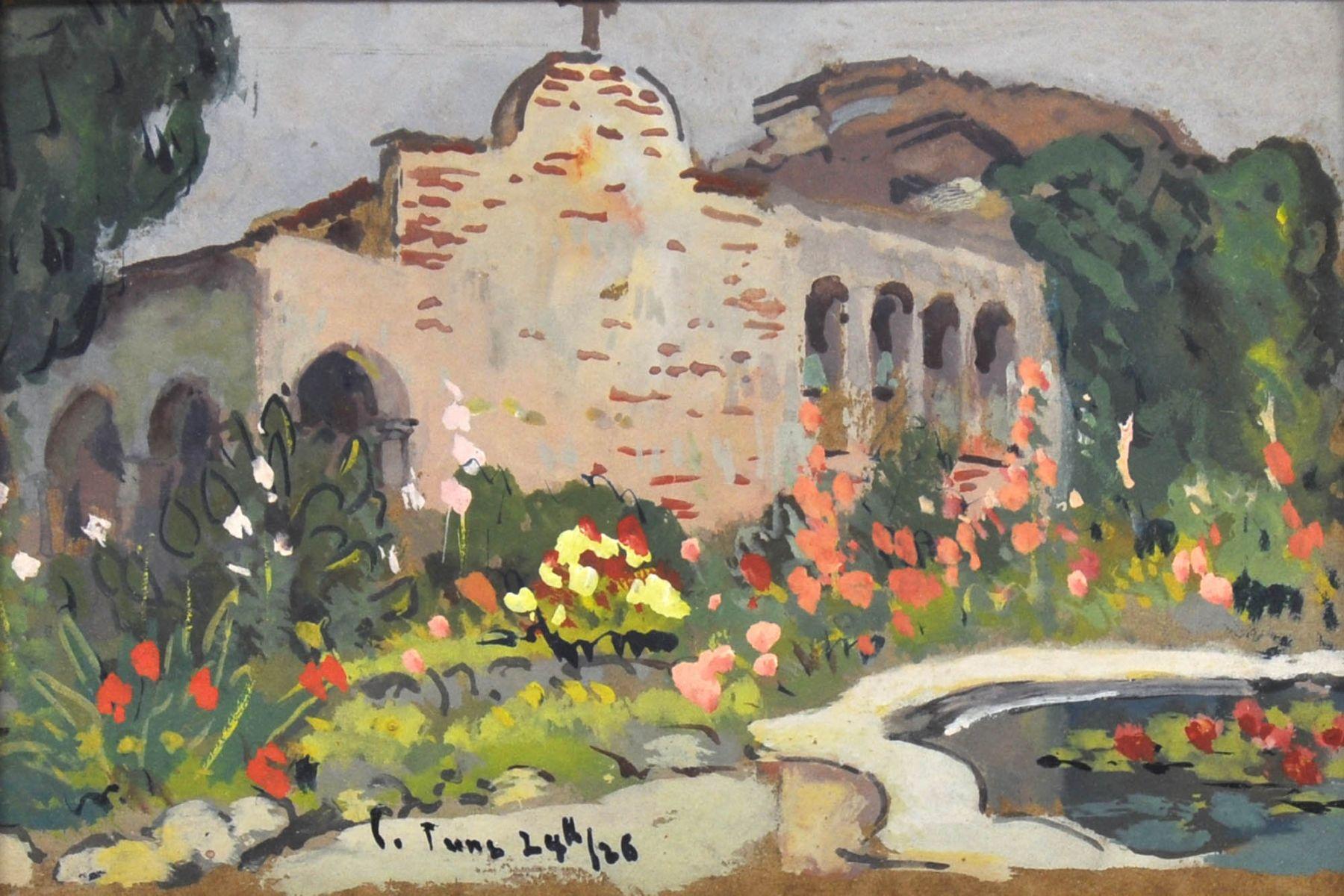 Colin Campbell Cooper, Garden of Villa Medici, Rome