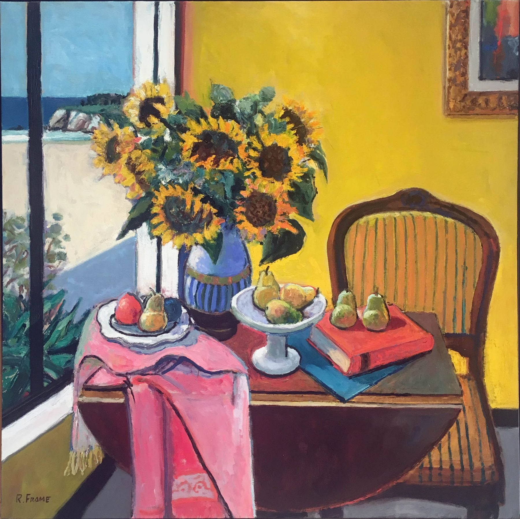 Robert Frame, Sunflowers in a Yellow Room, c.1975
