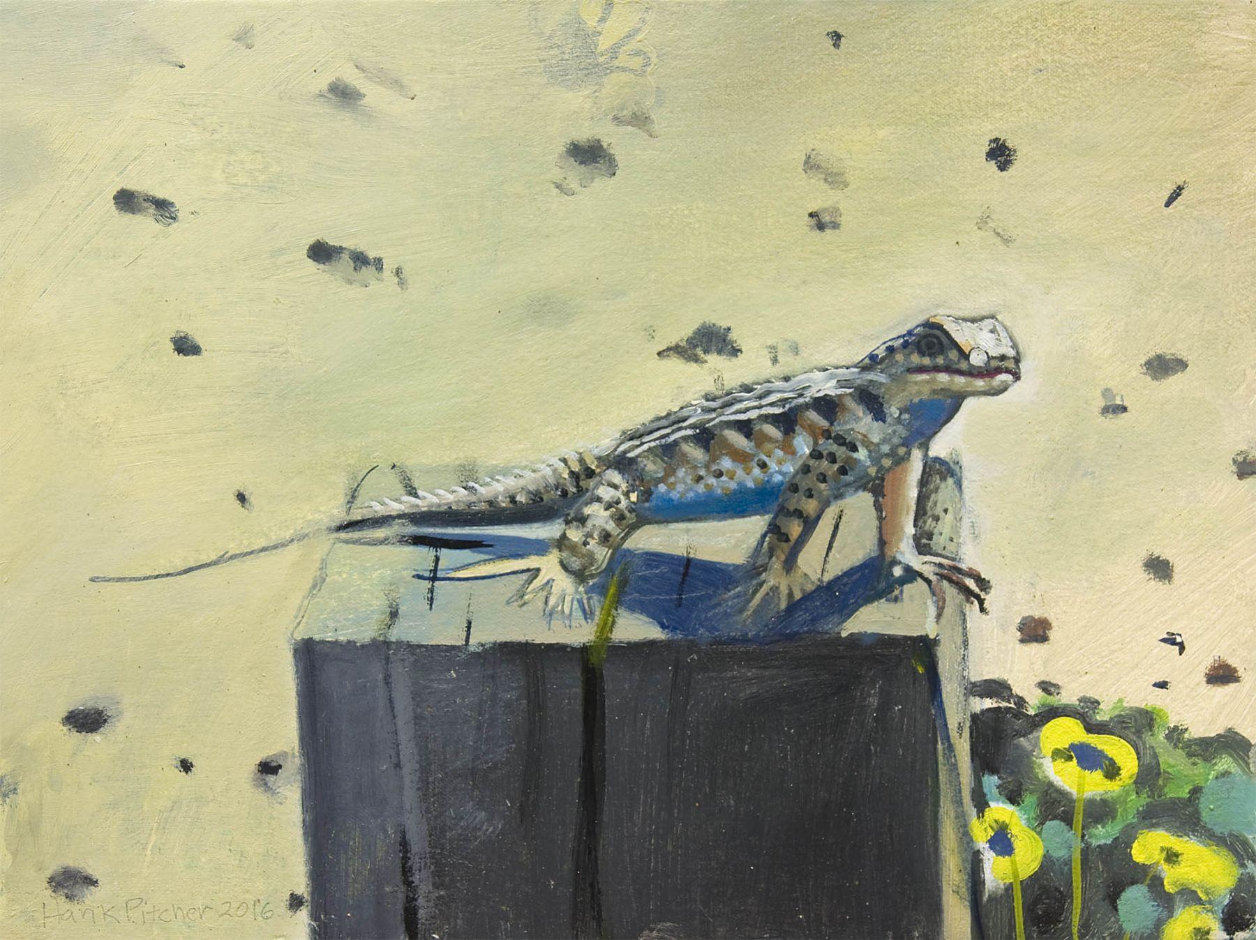 Hank Pitcher, Blue Belly Lizard, 2016