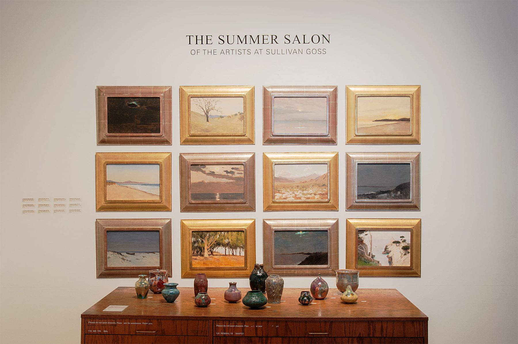 THE SUMMER SALON, 2019 installation photograph with Lockwood de Forest and James and Linda Haggerty
