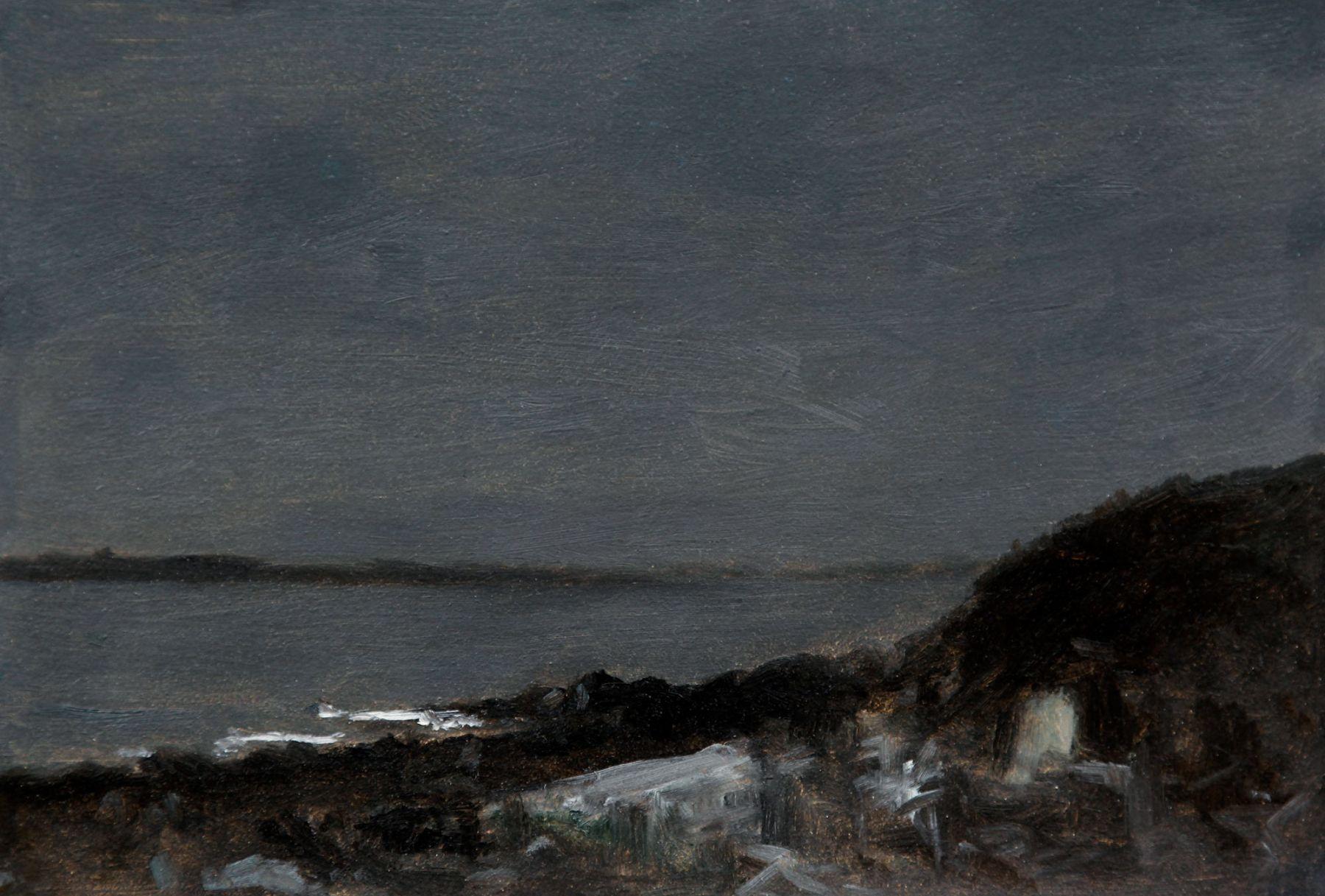 LOCKWOOD DE FOREST (1850-1932), Moonlight on the Shore, 1901