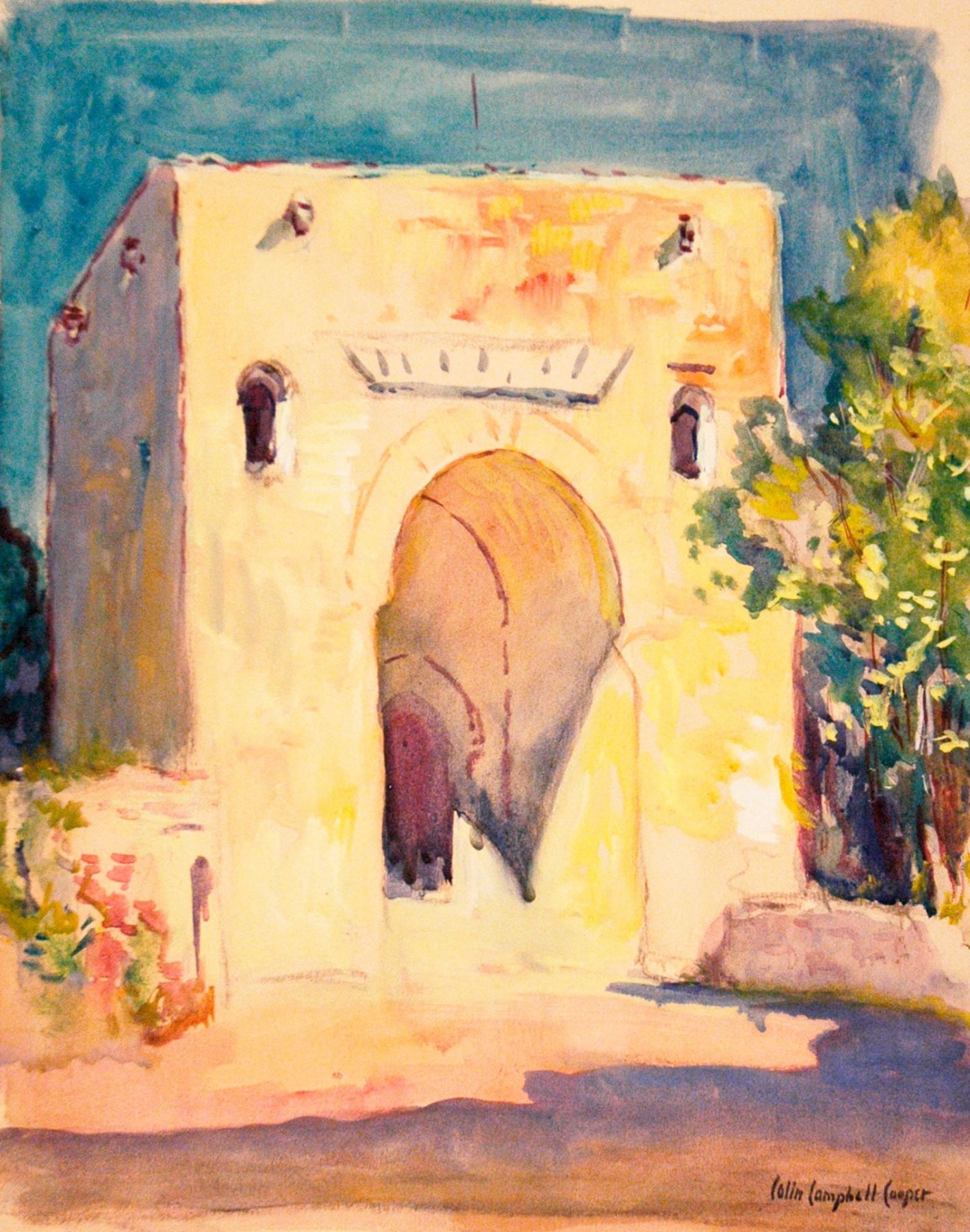 COLIN CAMPBELL COOPER (1856-1937), Study of The Gate of Justice, c. 1925
