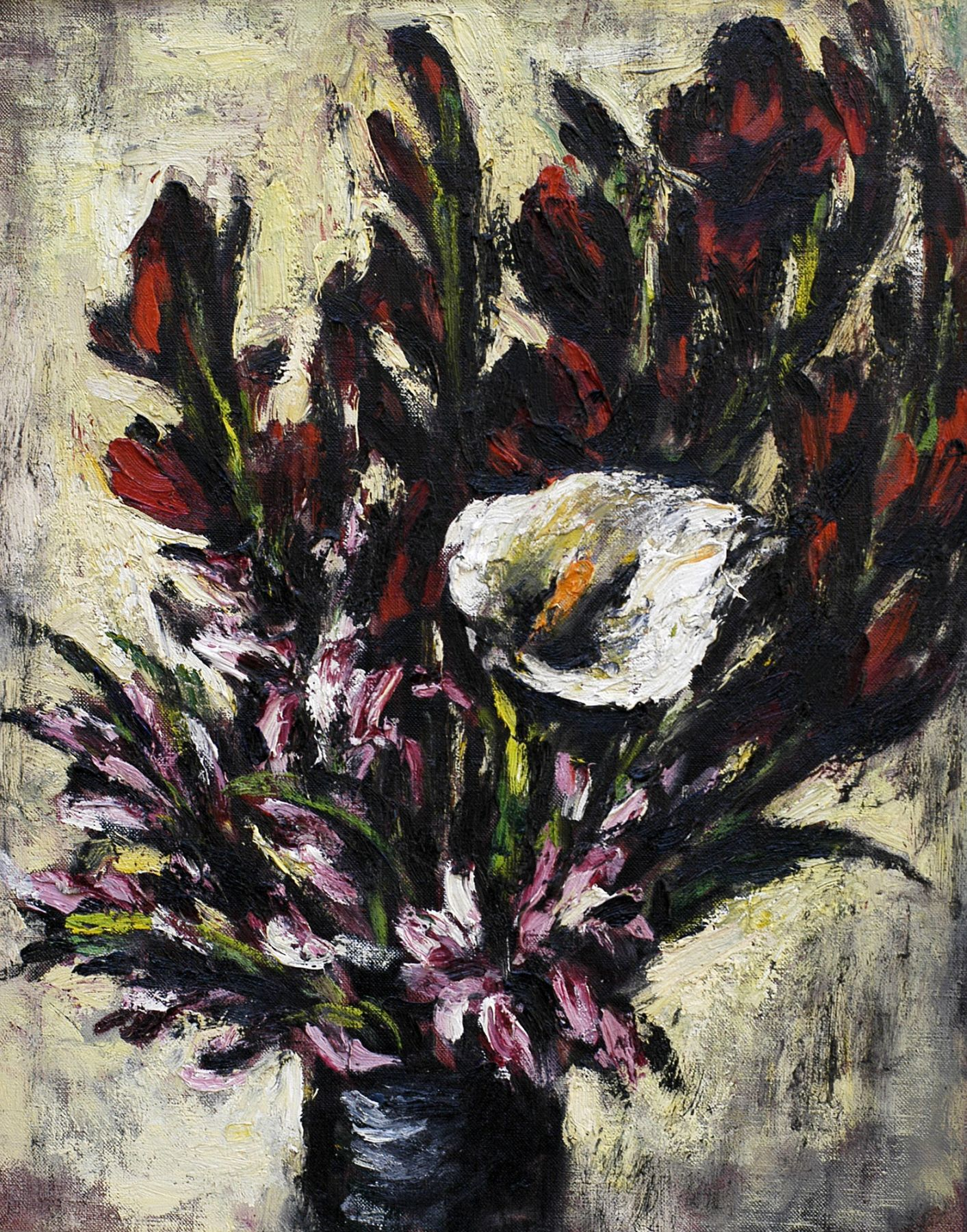 DAN LUTZ (1906-1978), Lily with Red Glads, 1954