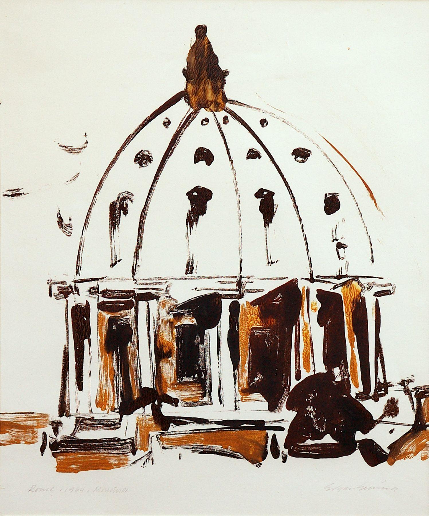 EDGAR EWING (1913-2006), Basilica San Pietro, 1964