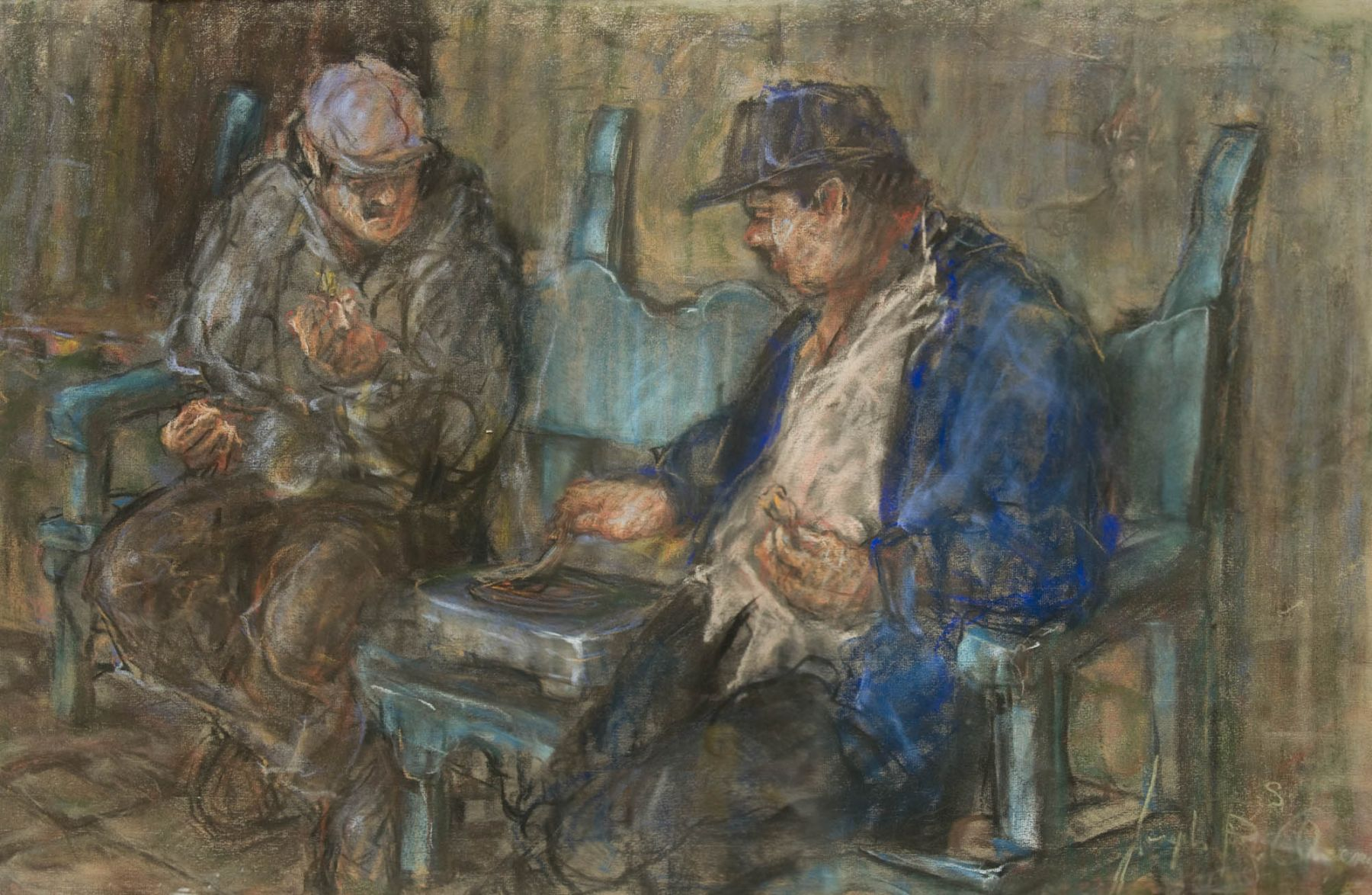 Joseph Areno, Working on Casa de la Guerra, c. 1997
