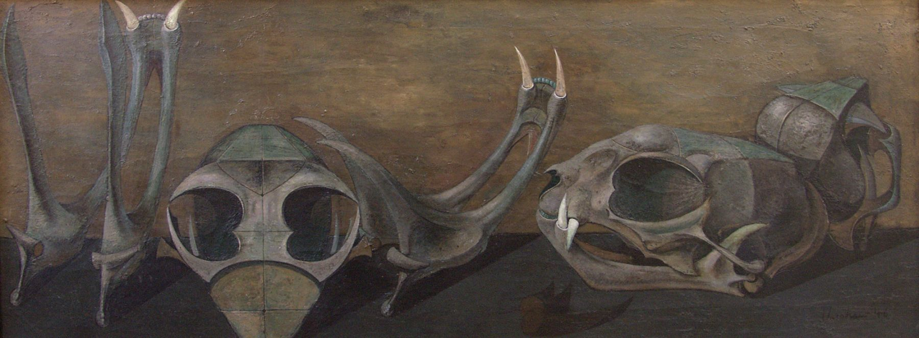 HOWARD WARSHAW (1920-1977), Cat Skulls, 1946