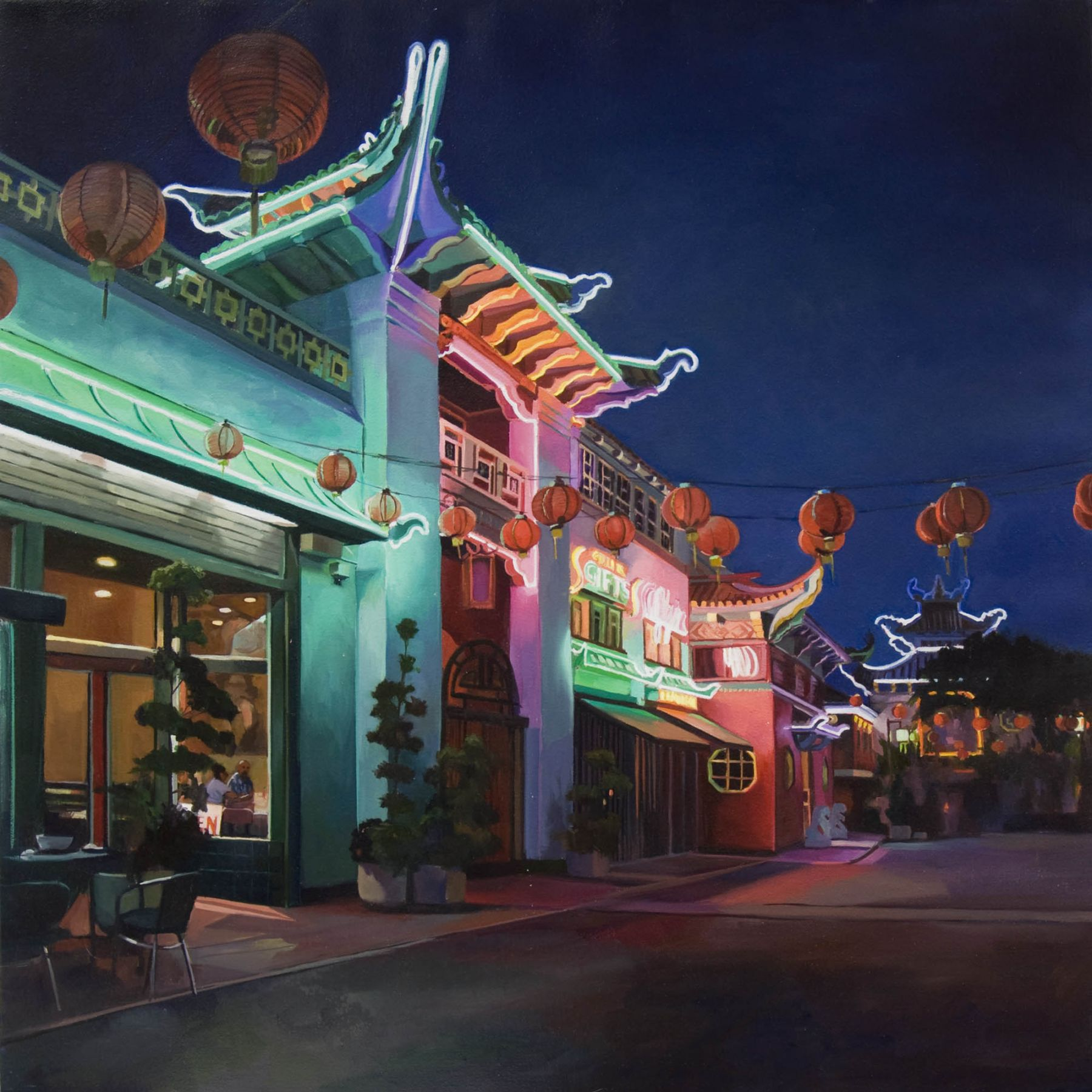 Patricia Chidlaw, Dinner in Chinatown, 2017
