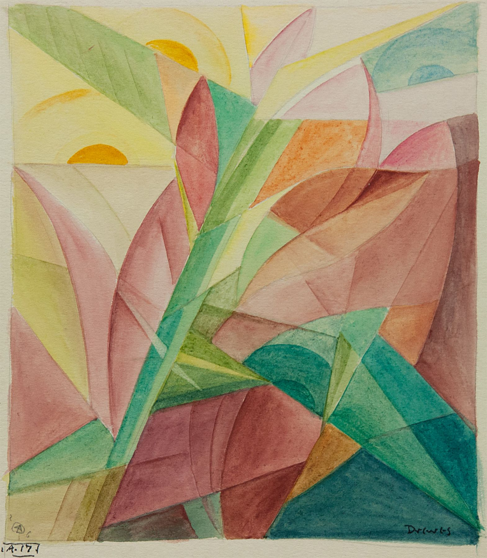 WERNER DREWES (1899-1985), Light and Plant Forms, 1926