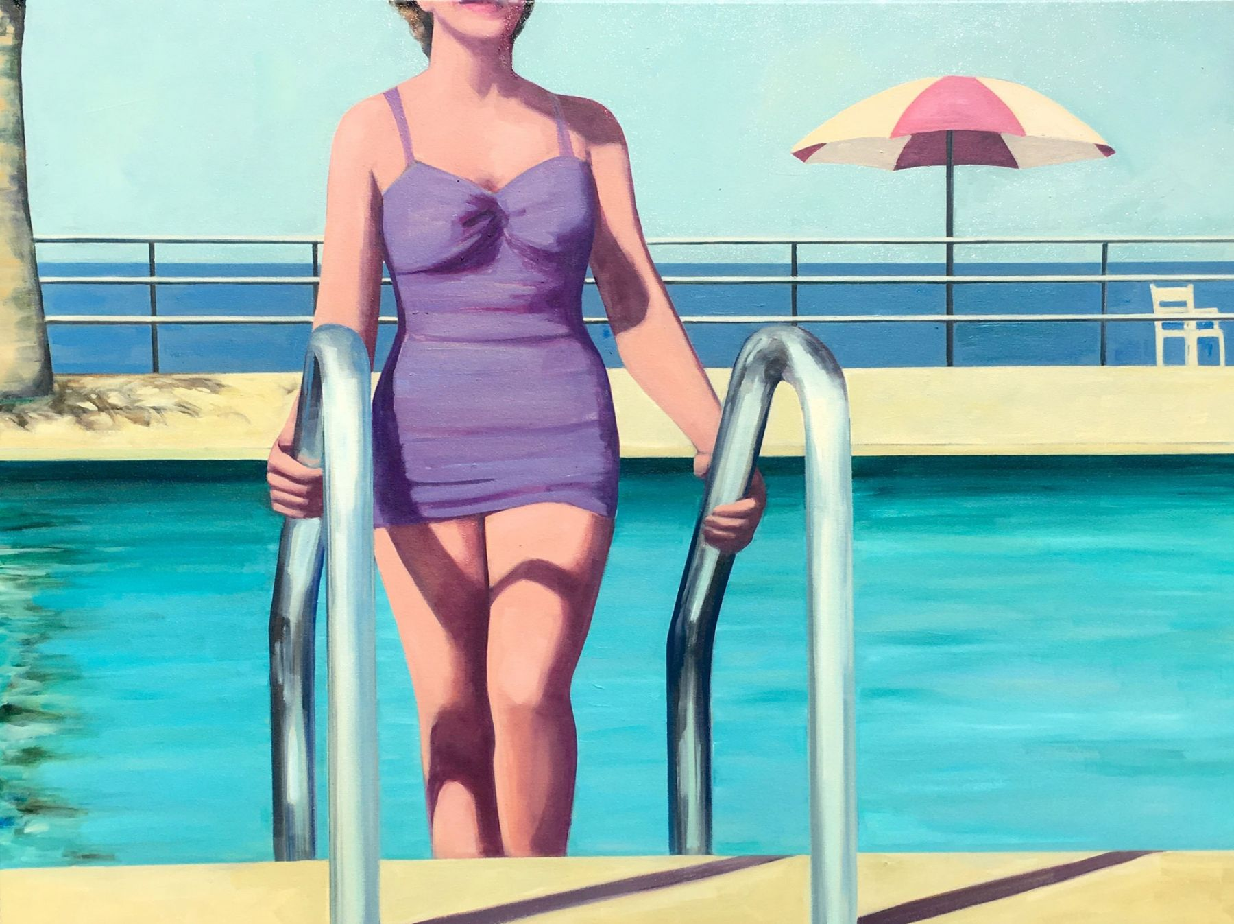 Tracey Sylvester-Harris, Beachside Pool, 2018