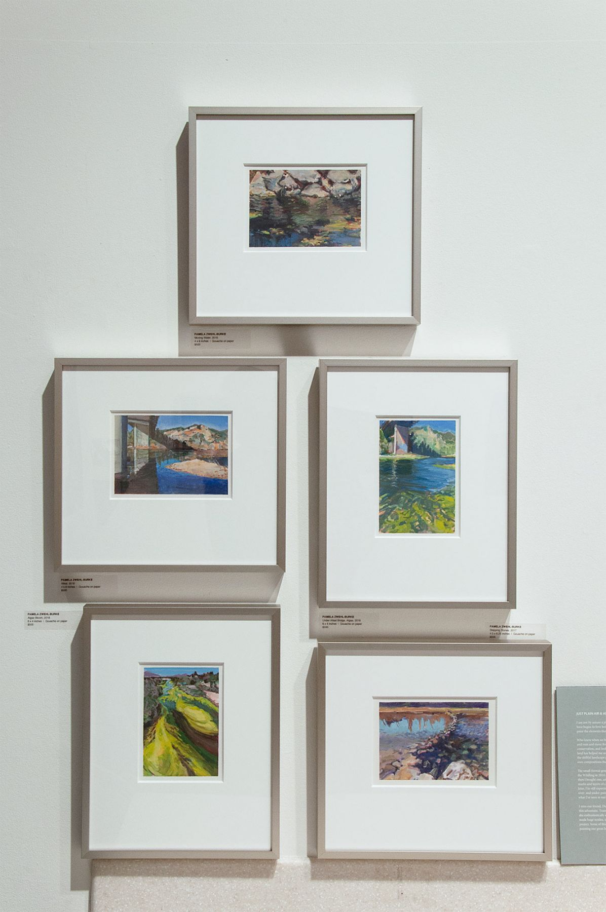 The River's Journey Installation photo, Pamela Zwehl-Burke