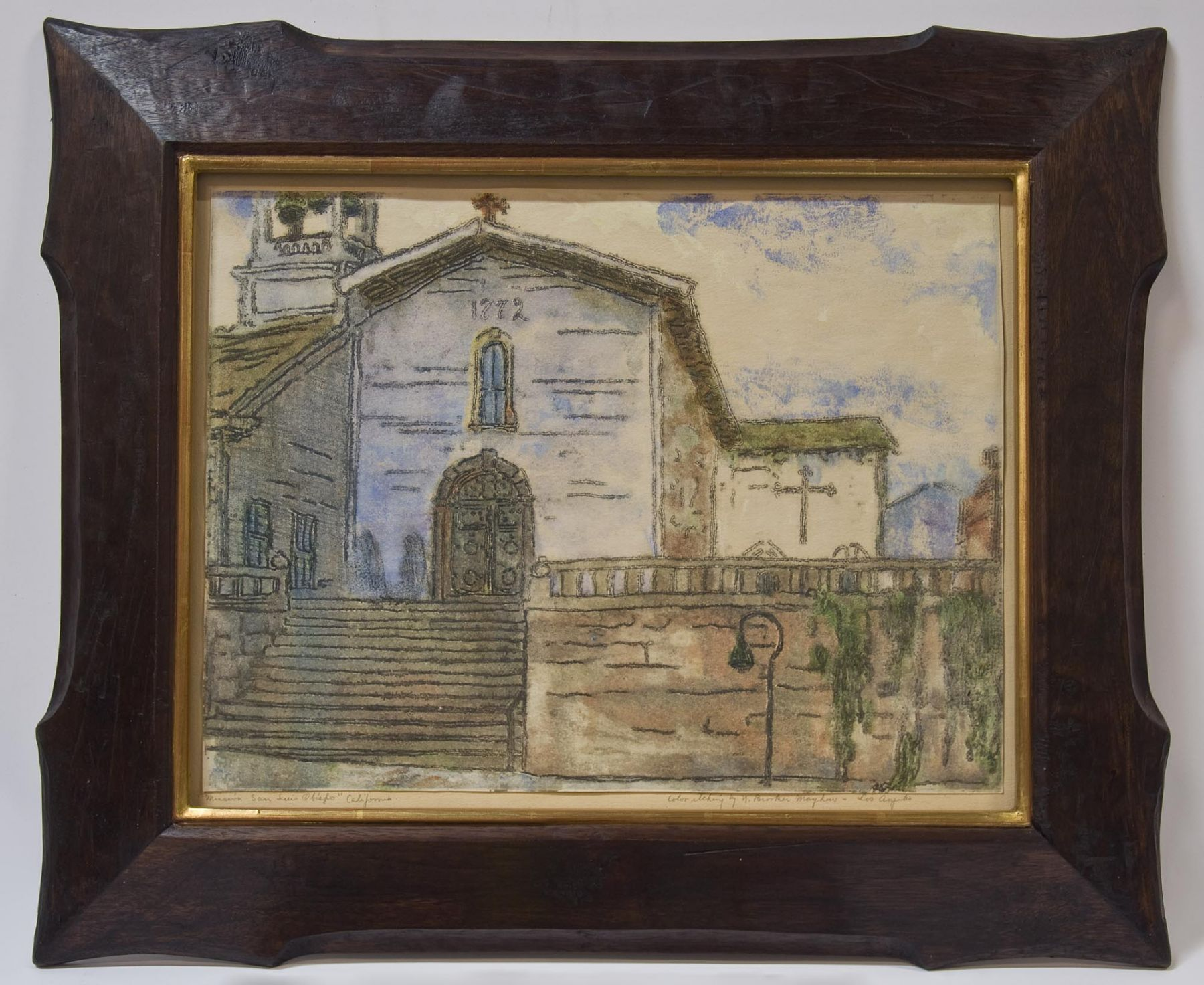 Nell Brooker Mayhew, Mission San Luis Obispo - California, 1921