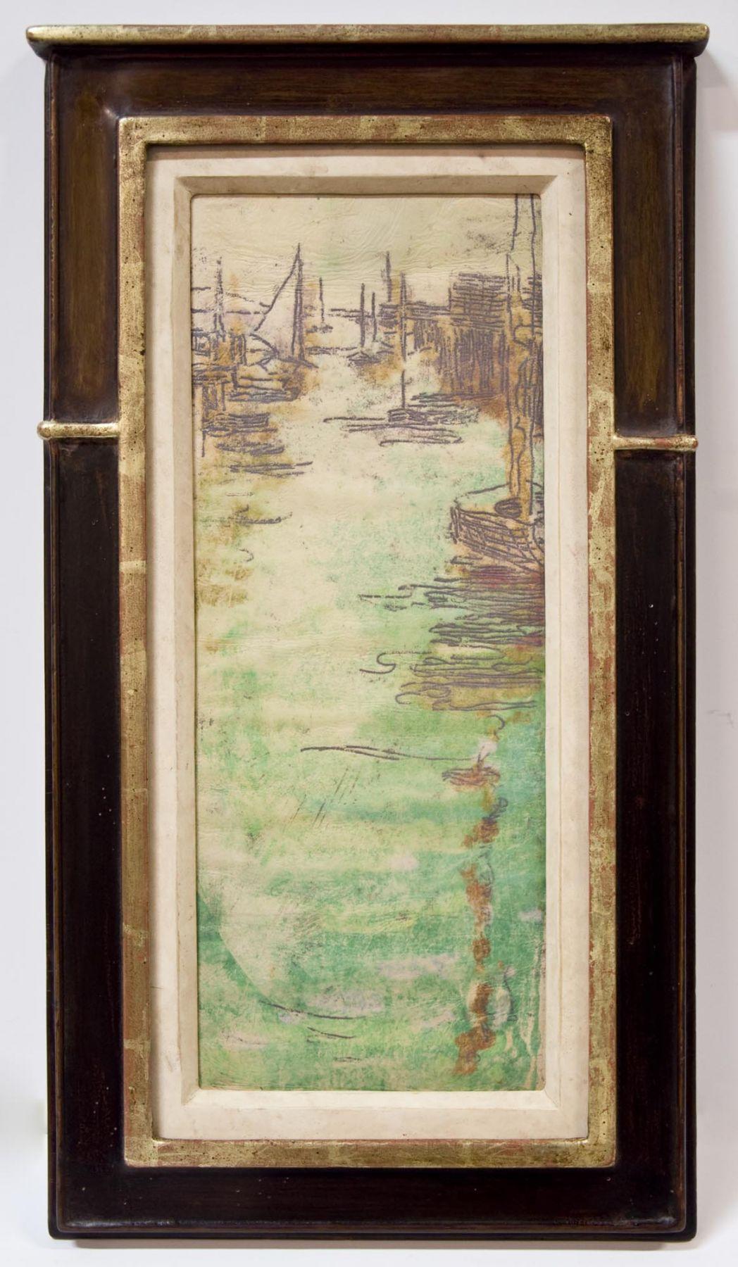 Nell Brooker Mayhew, Evening Boats, c. 1905